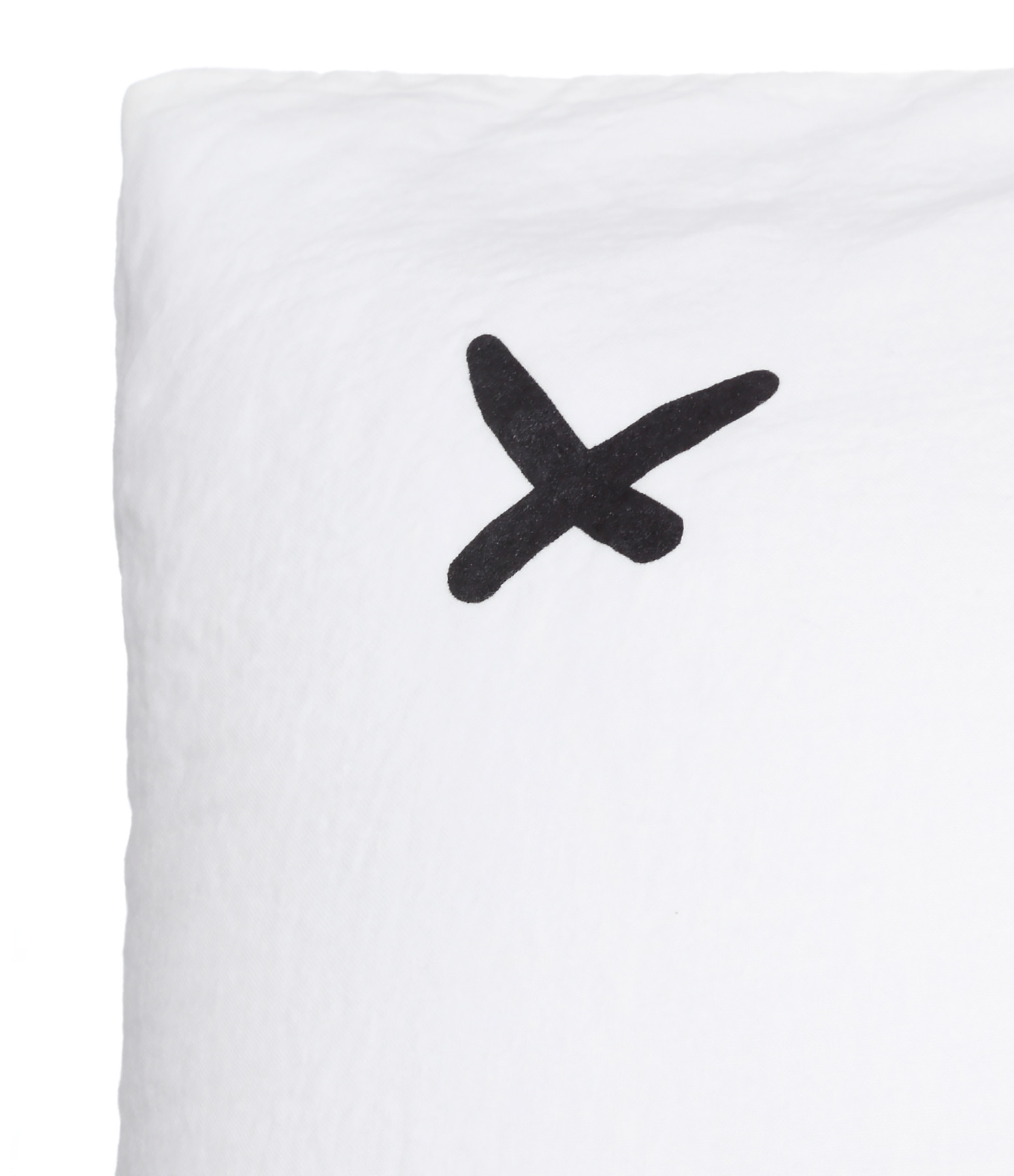 BED AND PHILOSOPHY - Coussin Lovers Lin Milk Print Noir