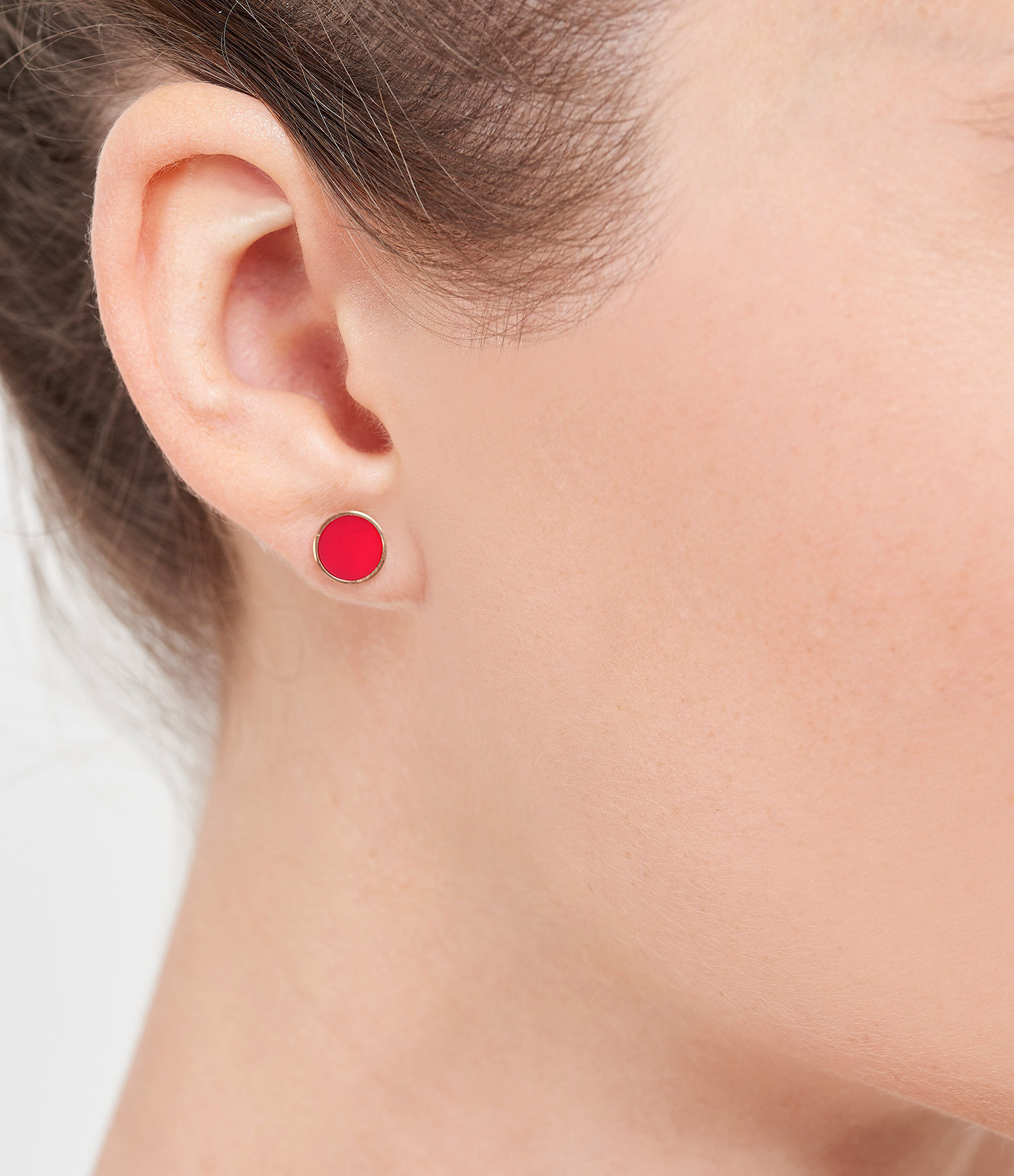 GINETTE NY - Boucles d'oreilles Ever Disc Or Rose Corail