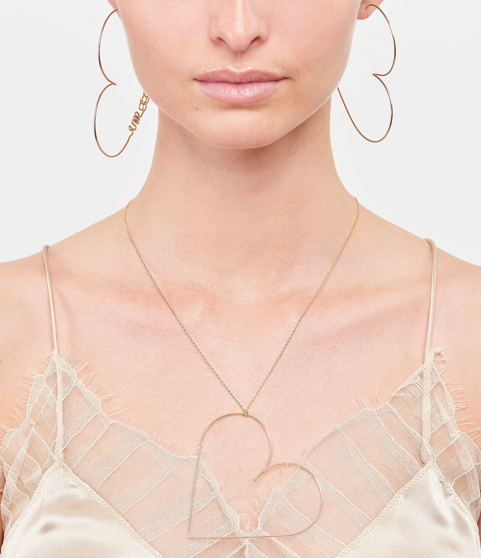 ATELIER PAULIN - Collier Maxi Coeur Nude Gold Filled 14K