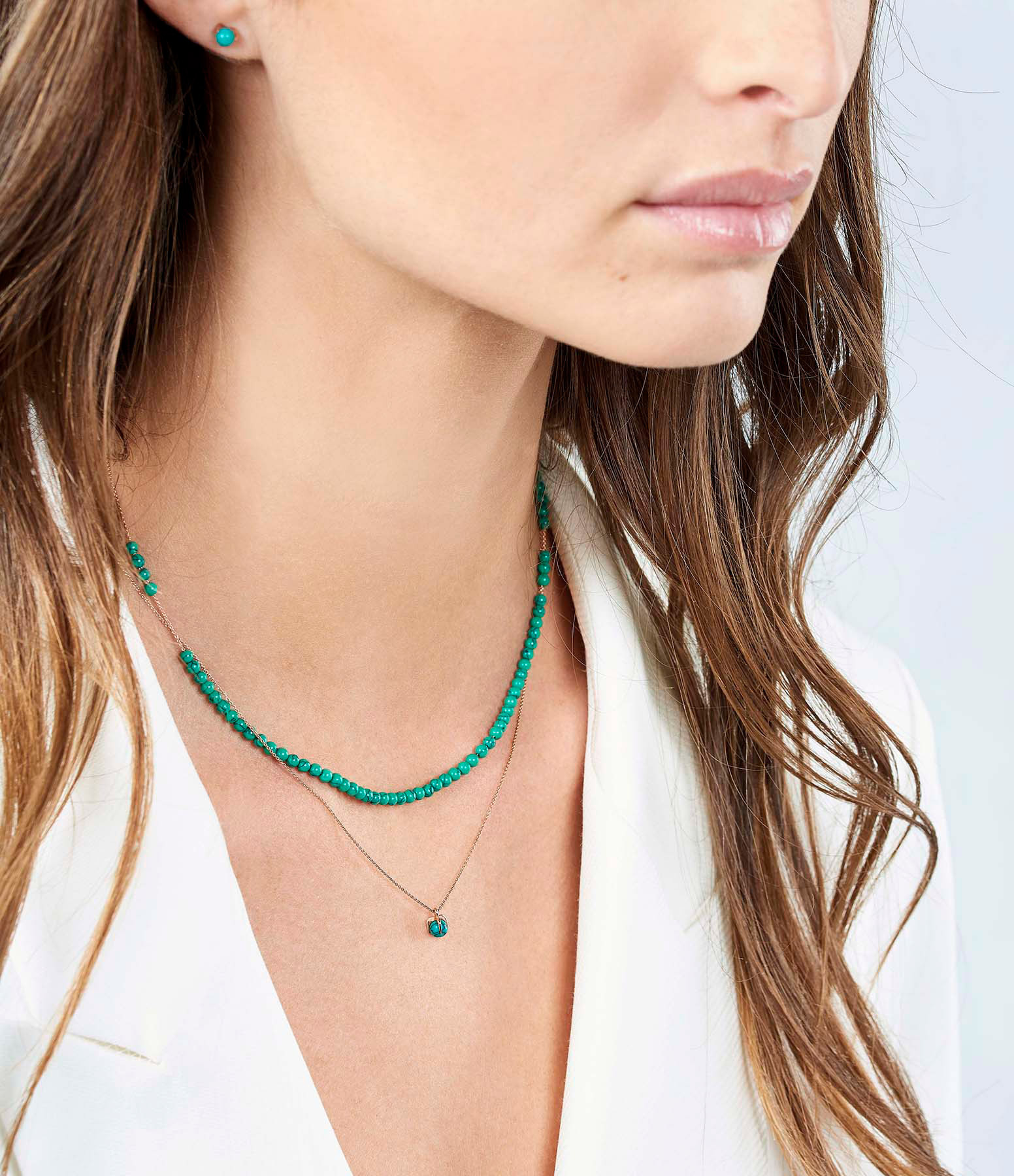 GINETTE_NY - Collier Maria Mini Or Rose Turquoise