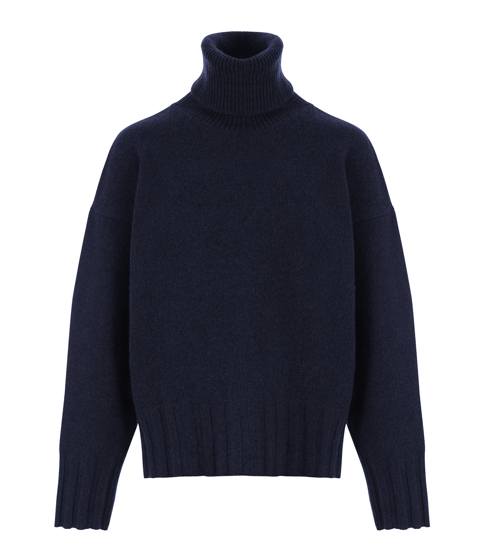 MADE IN TOMBOY - Pull Ely Col Roulé Laine Bleu Marine