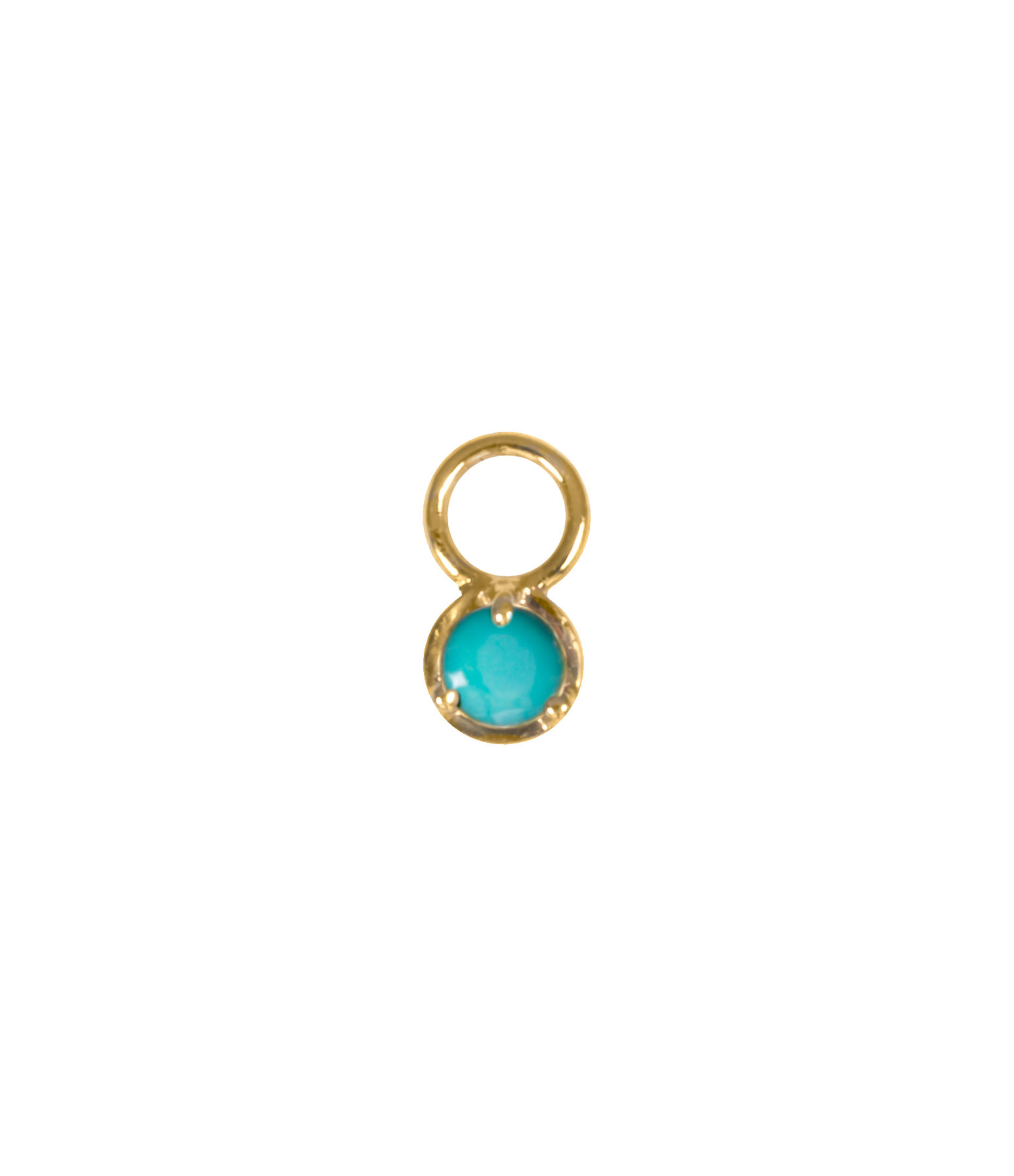AND...PARIS - Mini Charm Or Turquoise