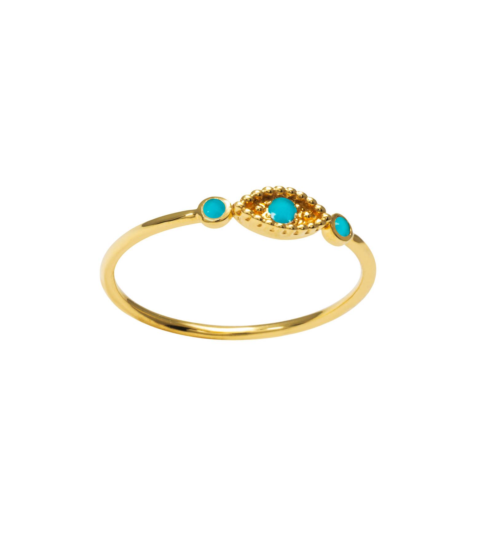 AND...PARIS - Bague Œil Or Turquoise