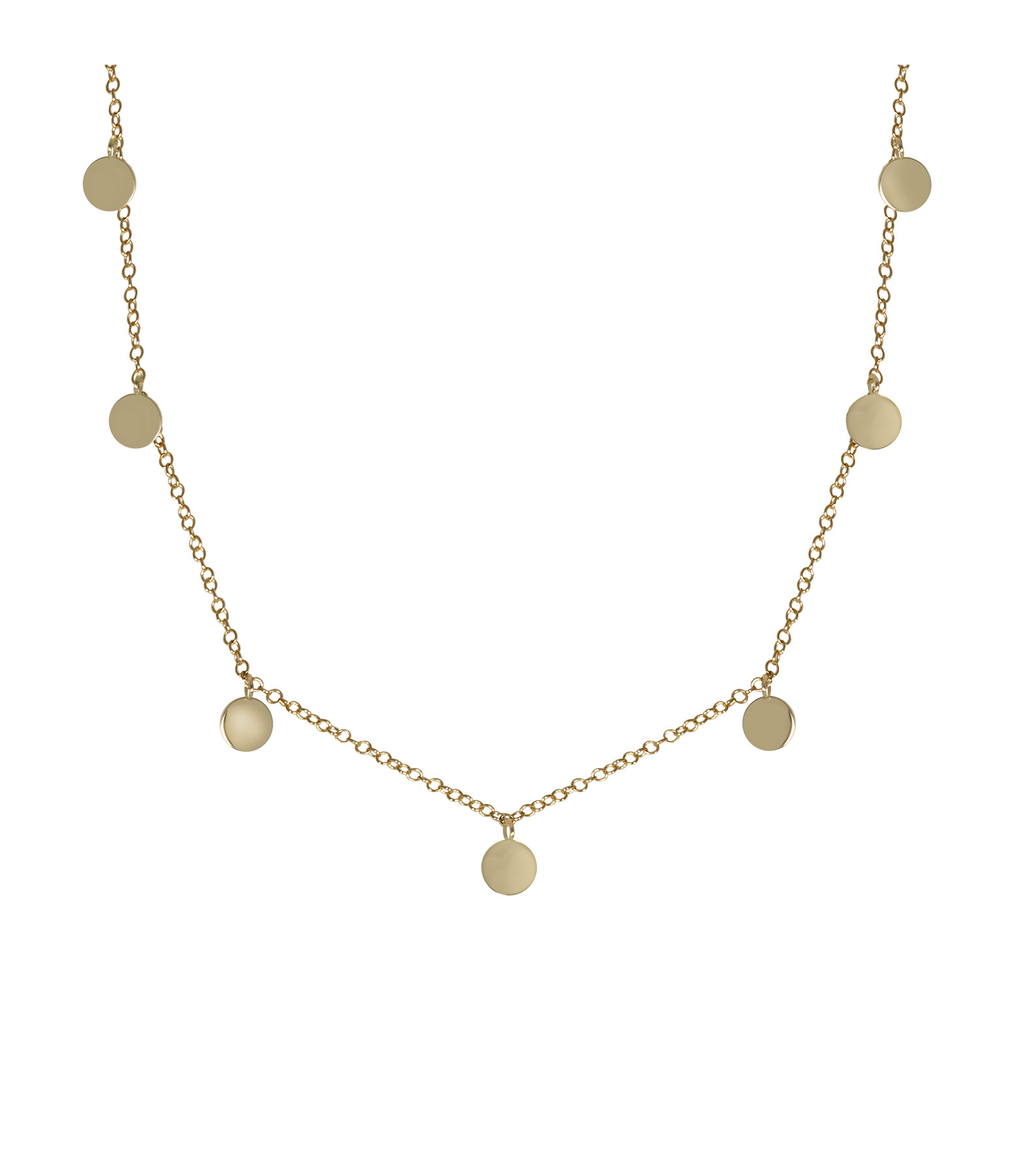 AND...PARIS - Collier Gypsy Mini 7 Pampilles Or