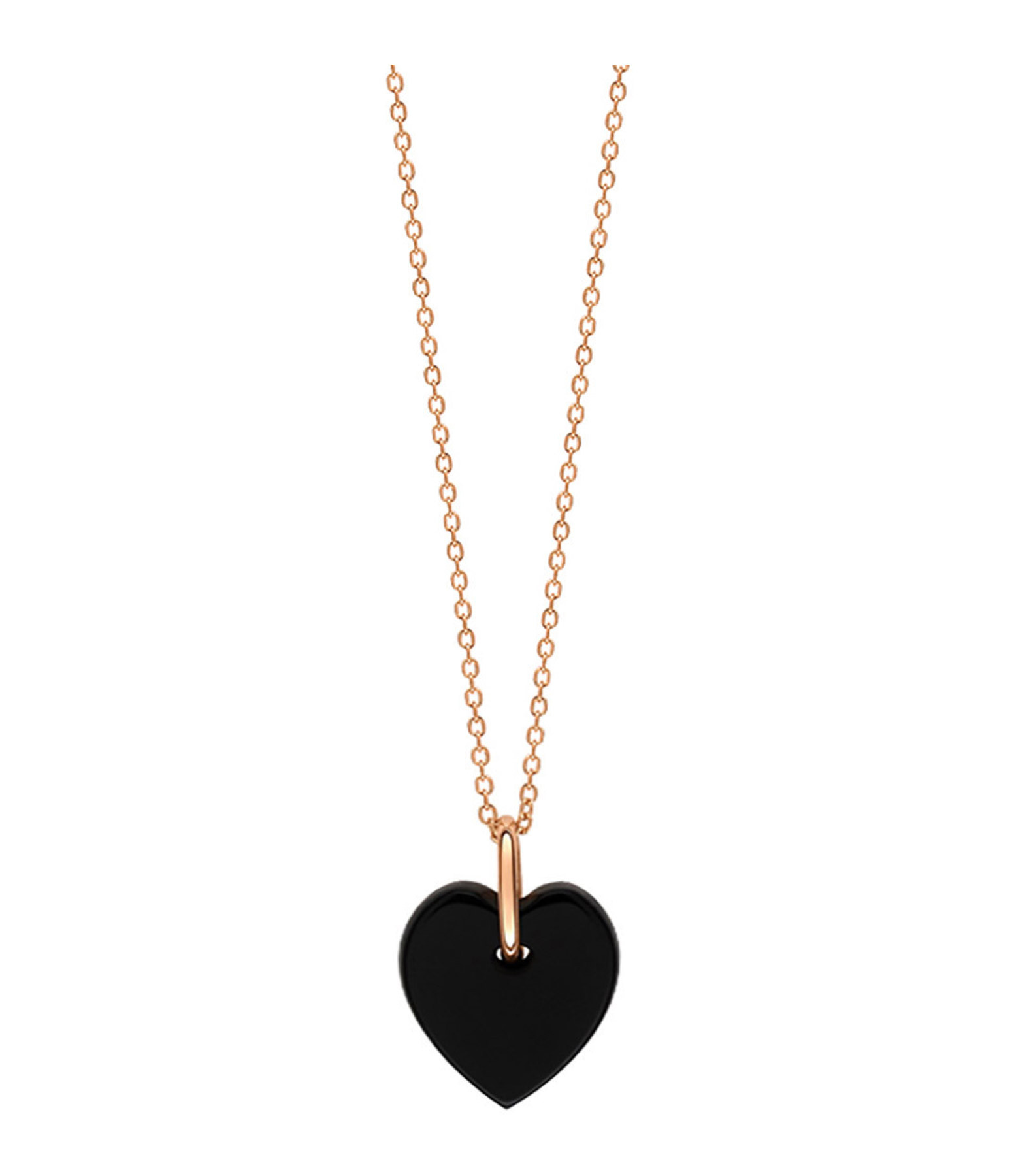 GINETTE_NY - Collier Angèle Mini Coeur Onyx
