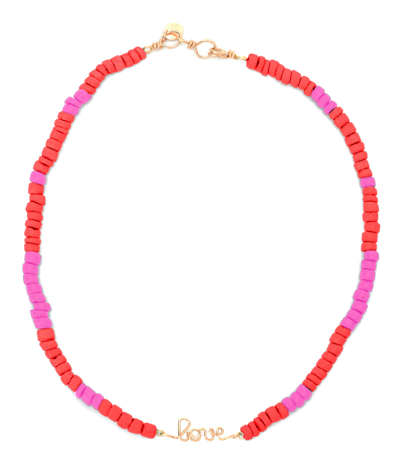 ATELIER PAULIN - Collier Medina Love Corail Rose Gold Filled, Collection Marrakech