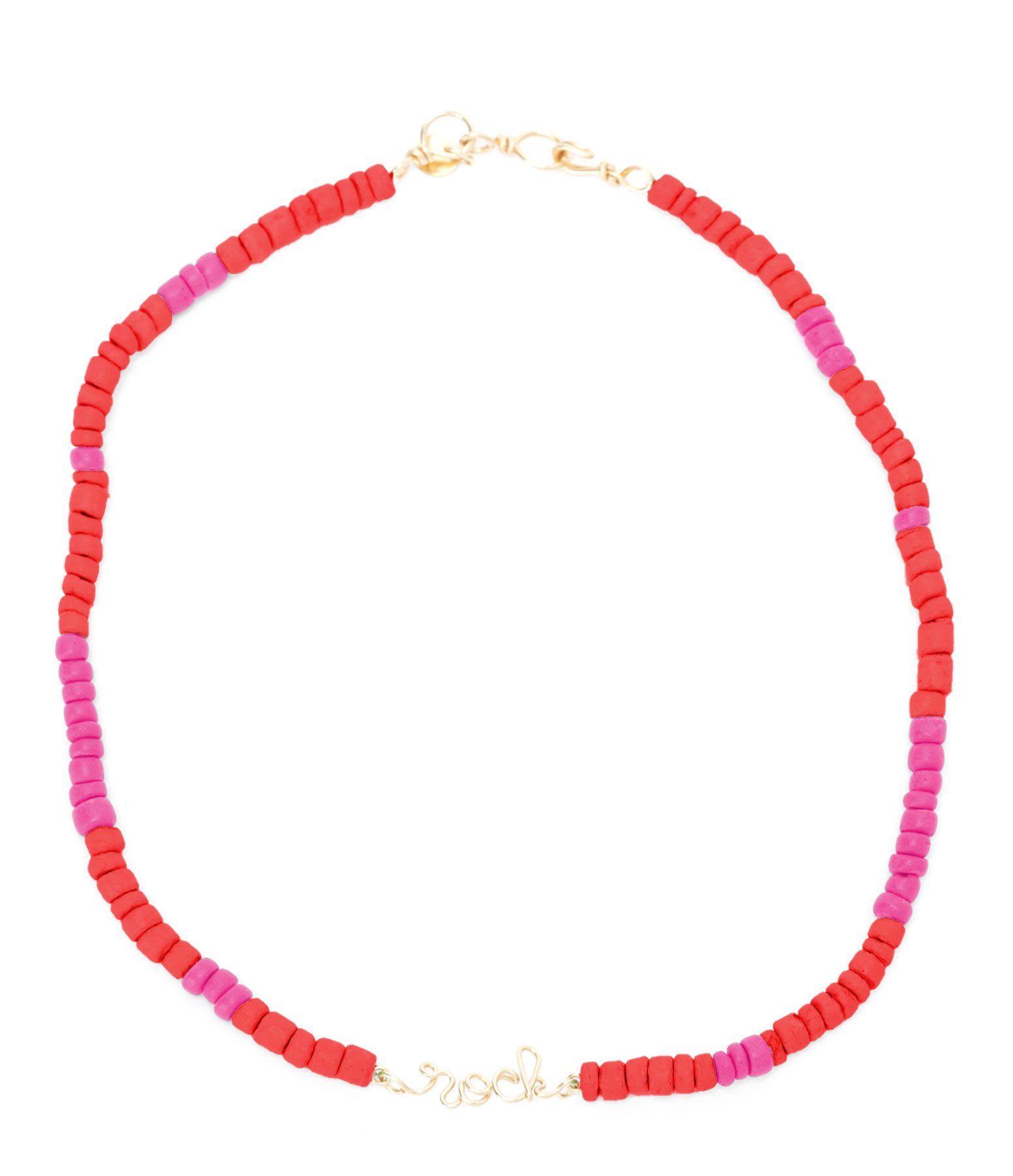 ATELIER PAULIN - Collier Medina Rock Corail Rose Gold Filled, Collection Marrakech