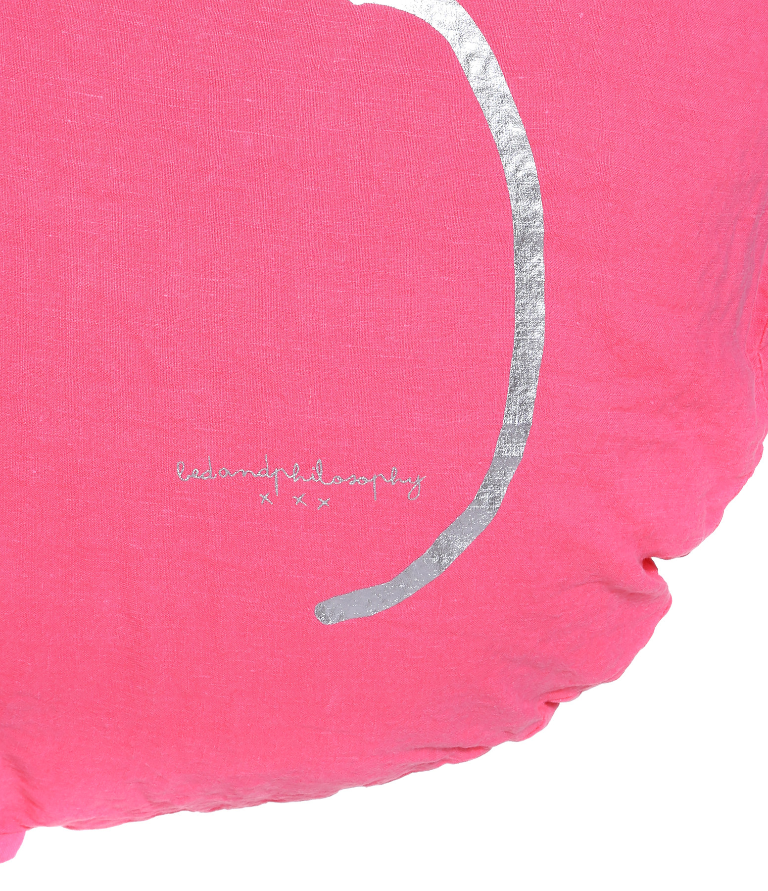 BED AND PHILOSOPHY - Coussin Shining Lin Rose Fluo 3 Argenté
