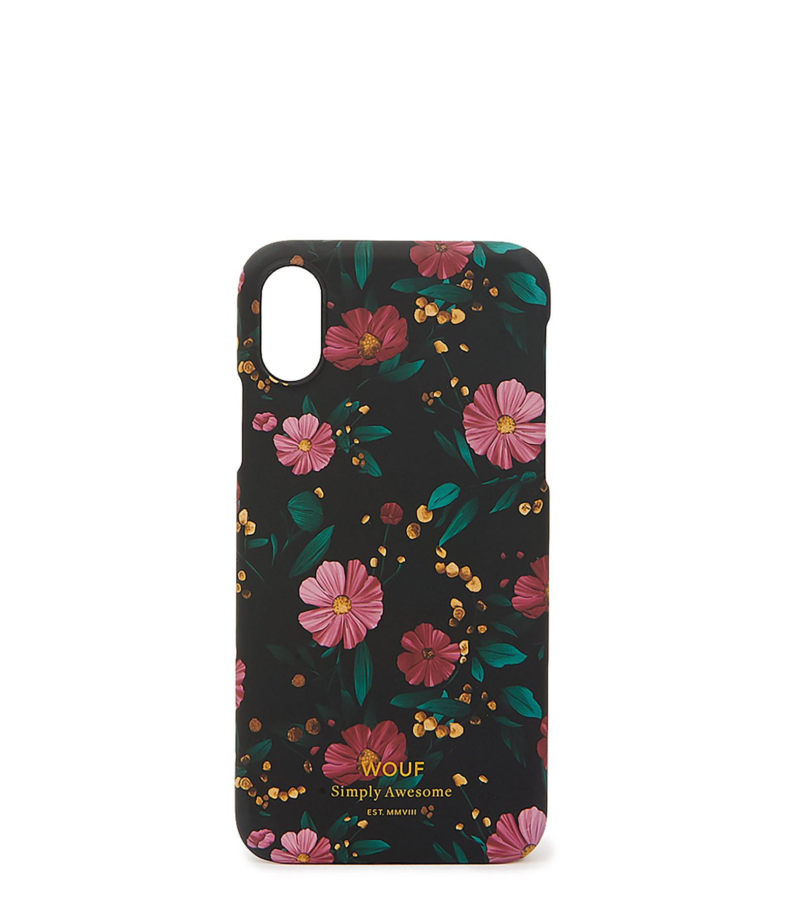 WOUF - Coque Iphone X Black Flowers