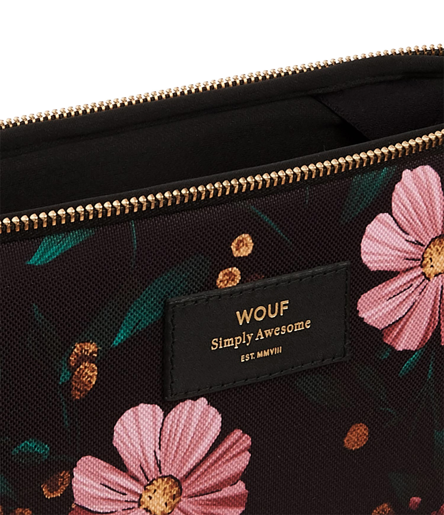 WOUF - Housse 13'' Black Flowers