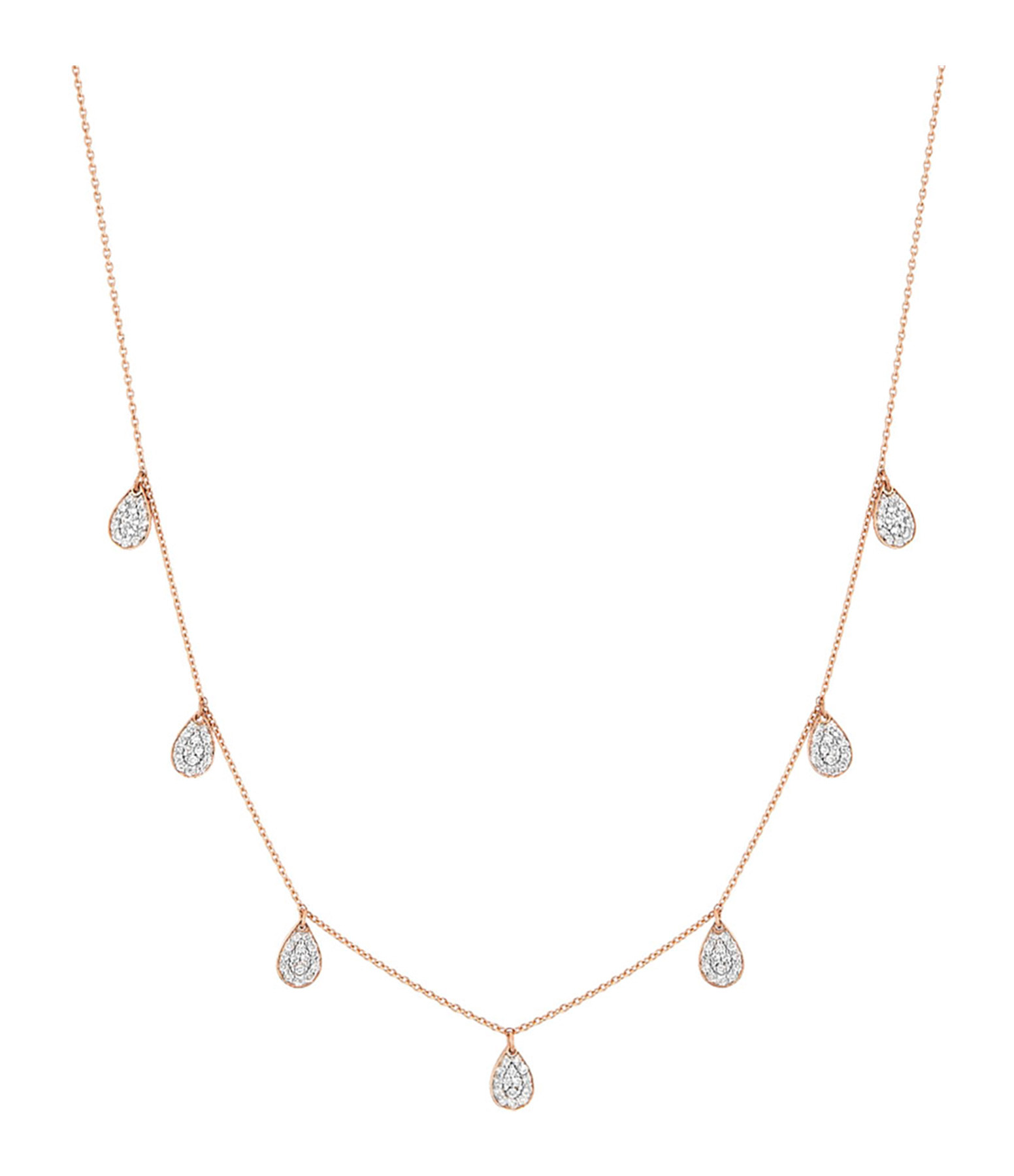 GINETTE NY - Collier 7 Mini Bliss Diamants Or Rose