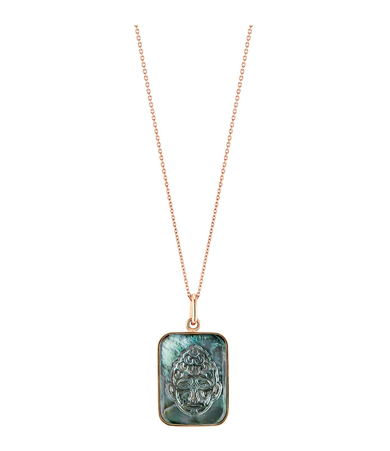 GINETTE NY - Collier Bliss Buddha Black Mop Or Rose