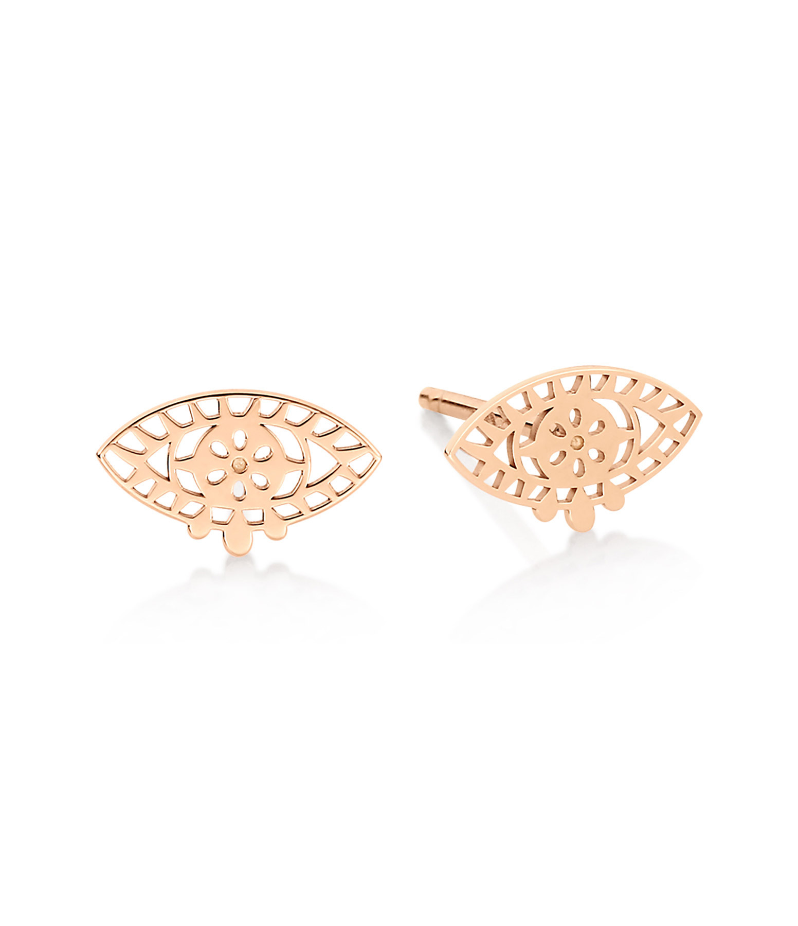 GINETTE NY - Boucles d'oreilles Ajna Puces Or Rose