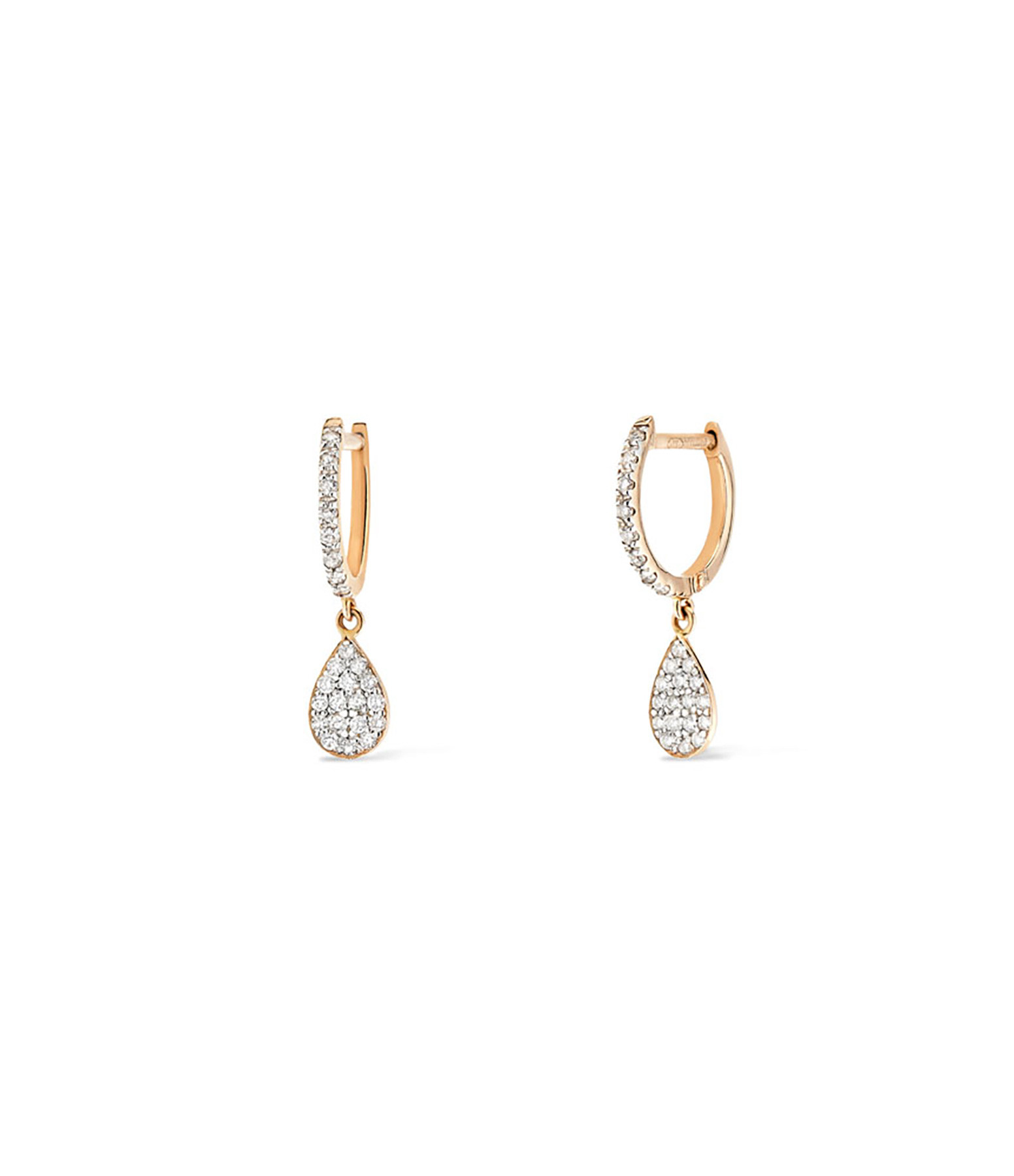 GINETTE NY - Boucles d'oreilles Bliss Diamants Or Rose