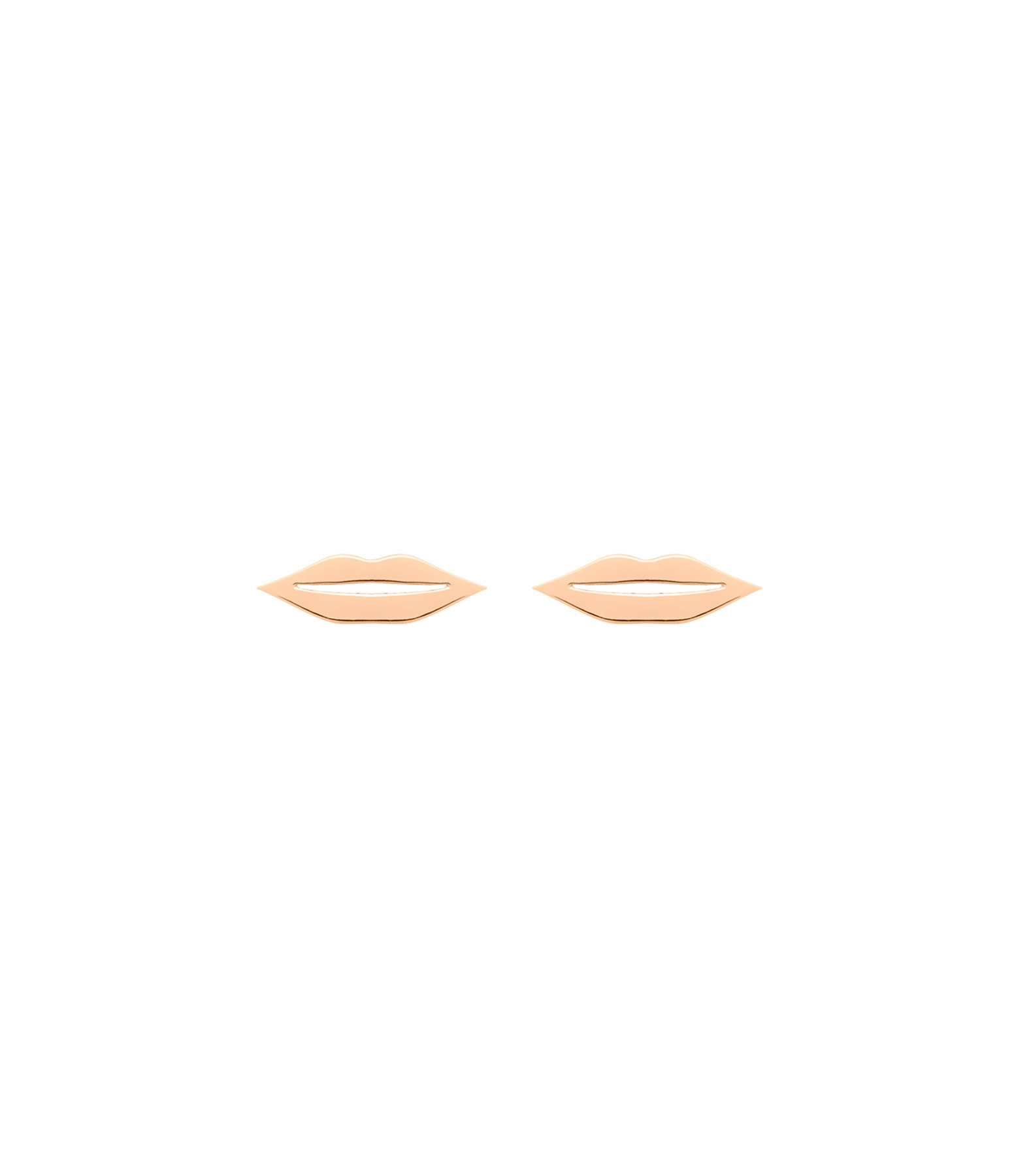 GINETTE NY - Boucles d'oreilles French Kiss Or Rose