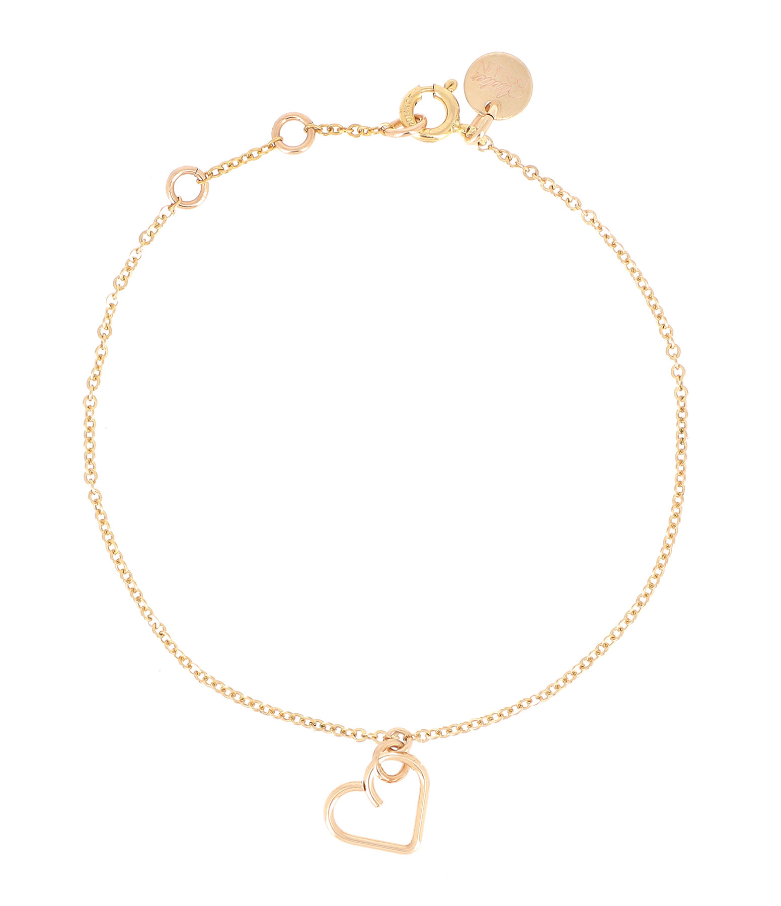 ATELIER PAULIN - Bracelet Lucky One Coeur Gold Filled 14K, Collection Charms