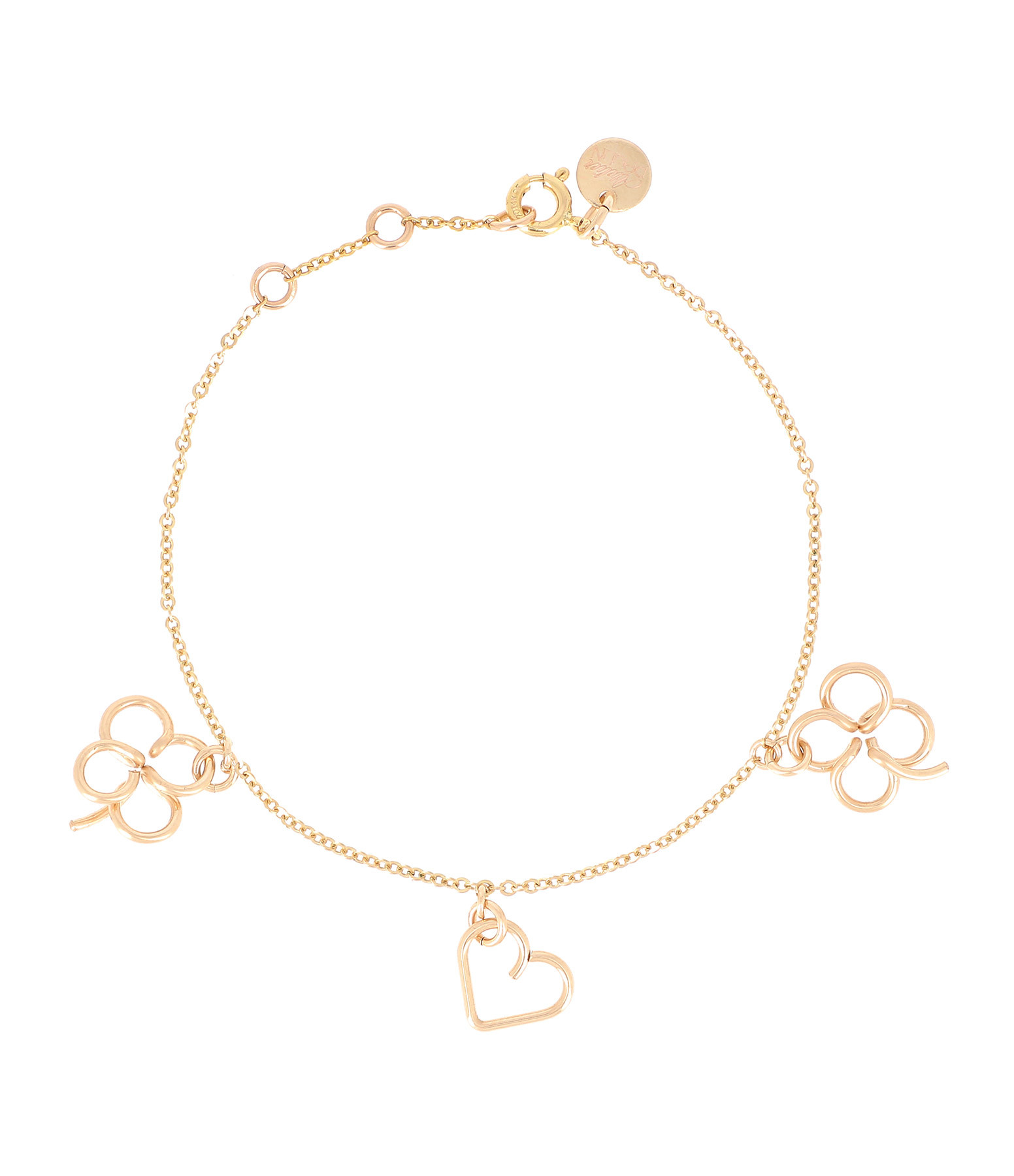 ATELIER PAULIN - Bracelet Lucky Three Gold Filled 14K, Collection Charms