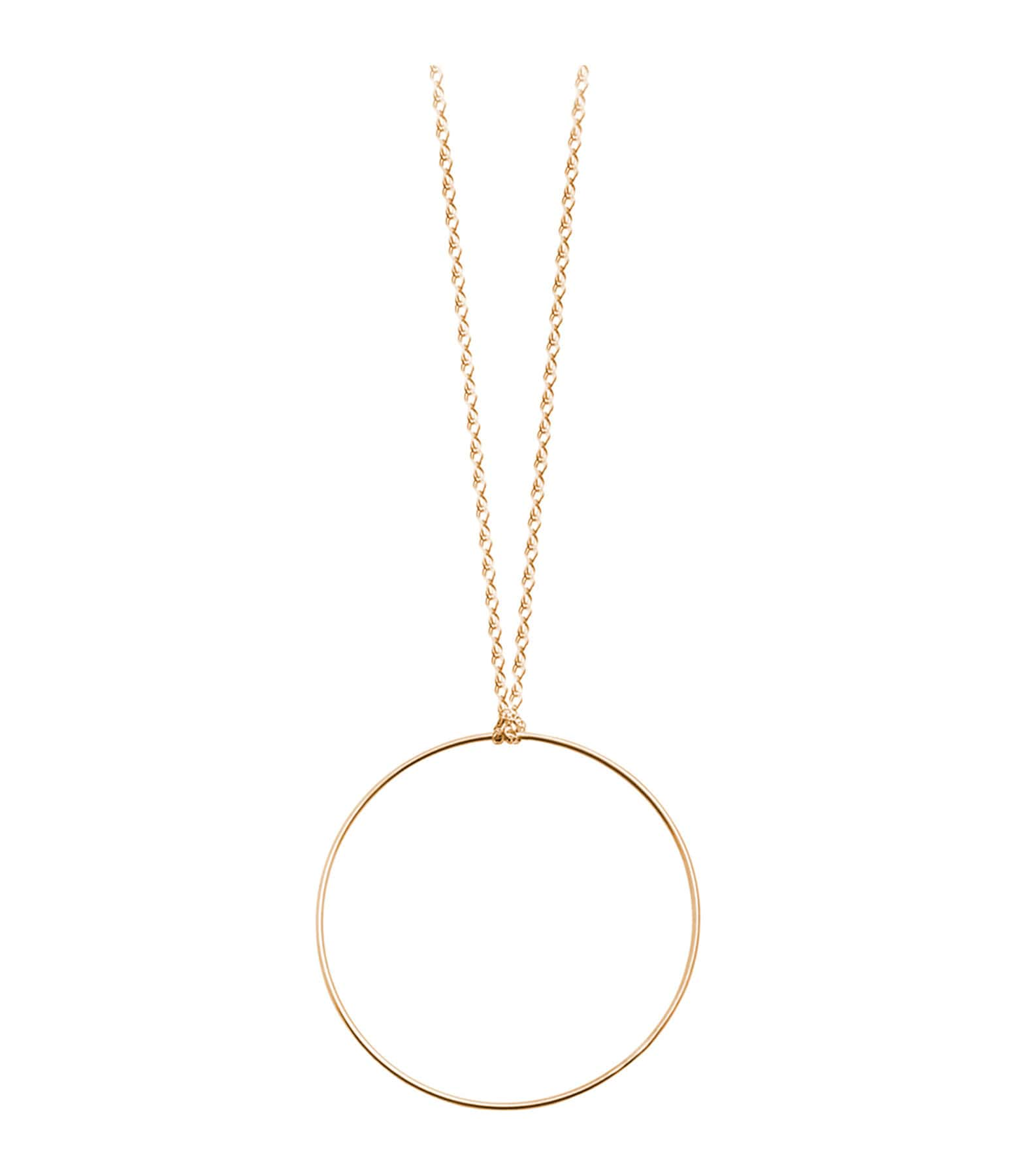 Collier Cercle Or rose - Ginette_ny
