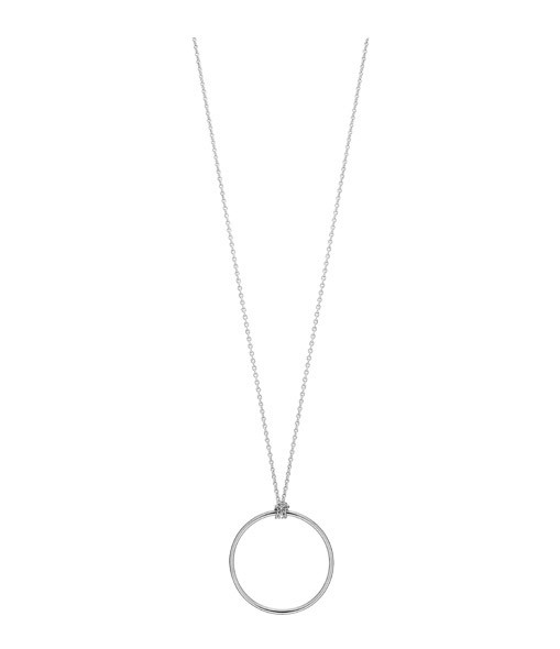 Collier Mini Cercle or blanc - Ginette_ny
