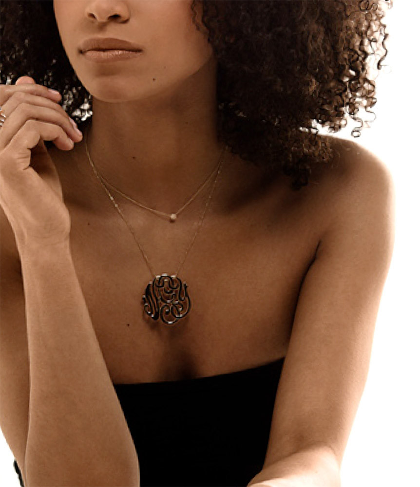 Collier Jumbo Monogramme nGy - GINETTE_NY