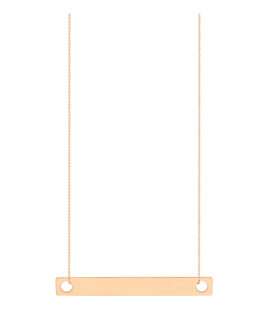 GINETTE_NY - Collier Baguette GM Or Rose