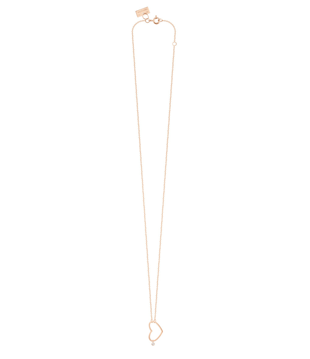 VANRYCKE - Collier Angie Or Rose Diamant S
