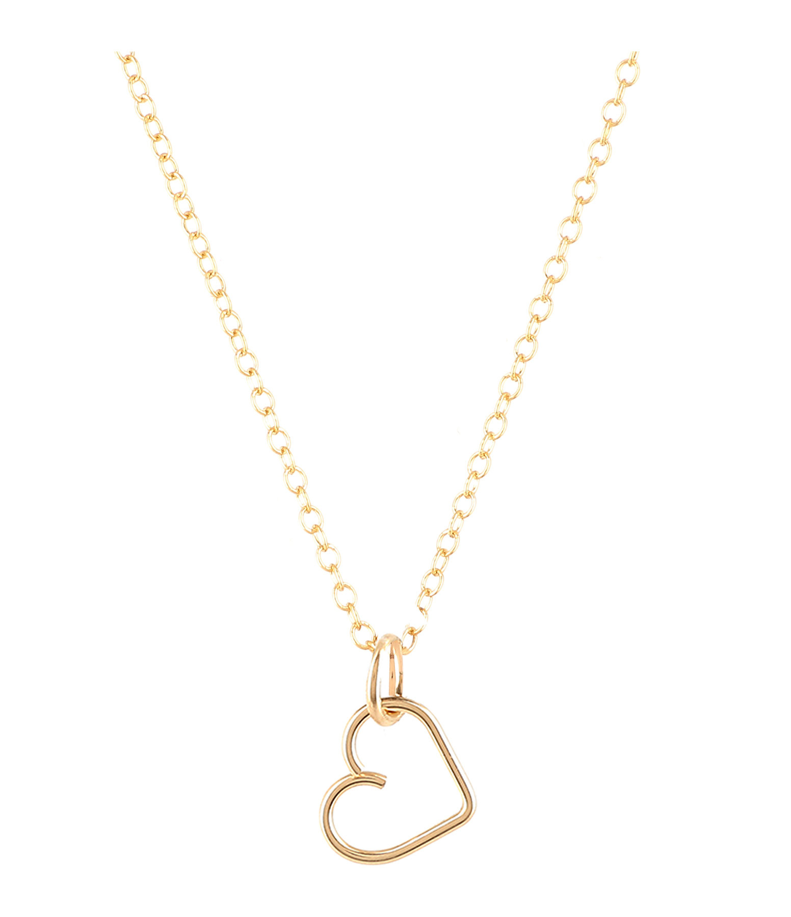 ATELIER PAULIN - Collier Lucky One Coeur Gold Filled 14K, Collection Charms