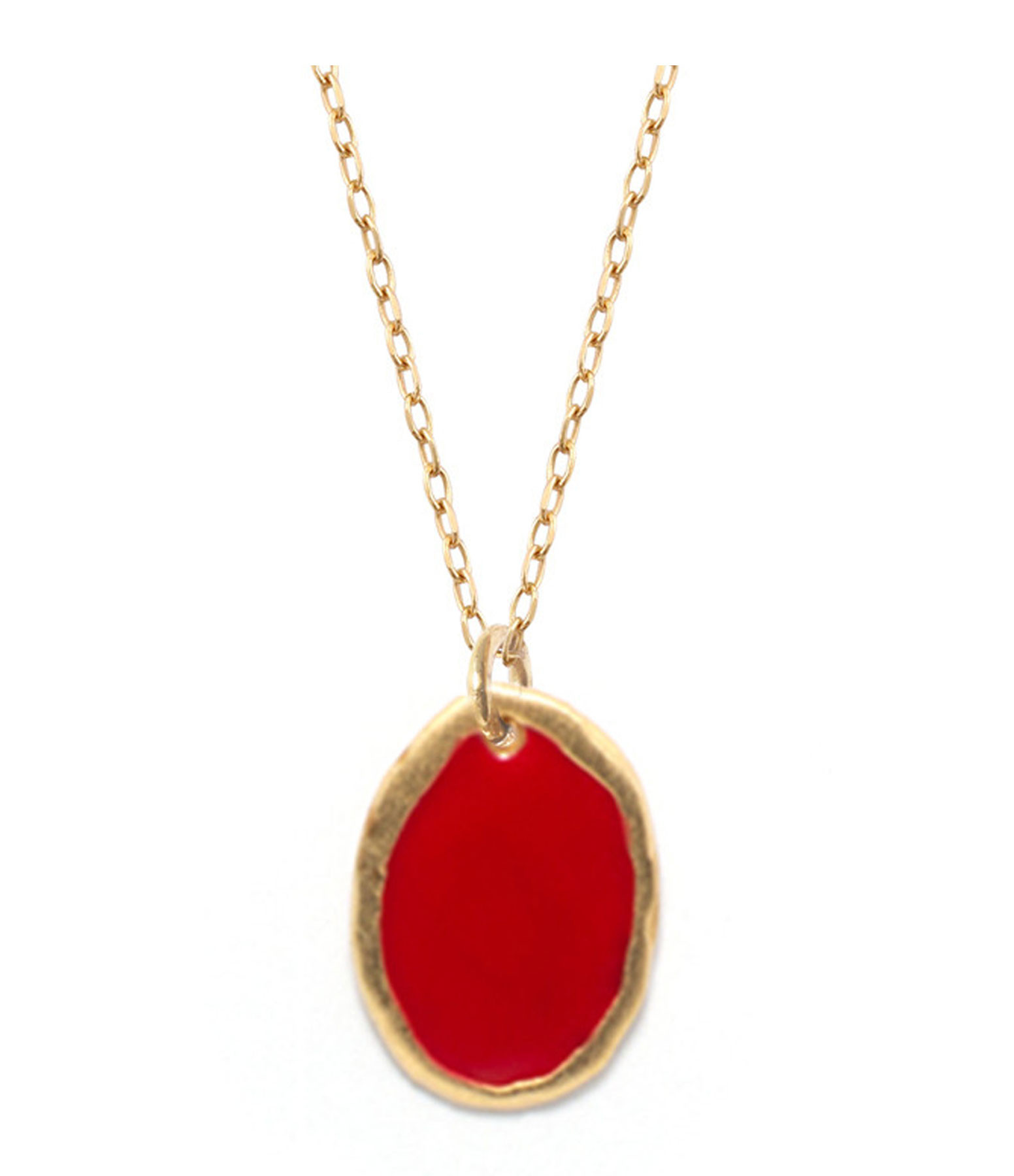 LSONGE - Collier Lumy Médaille M Rouge
