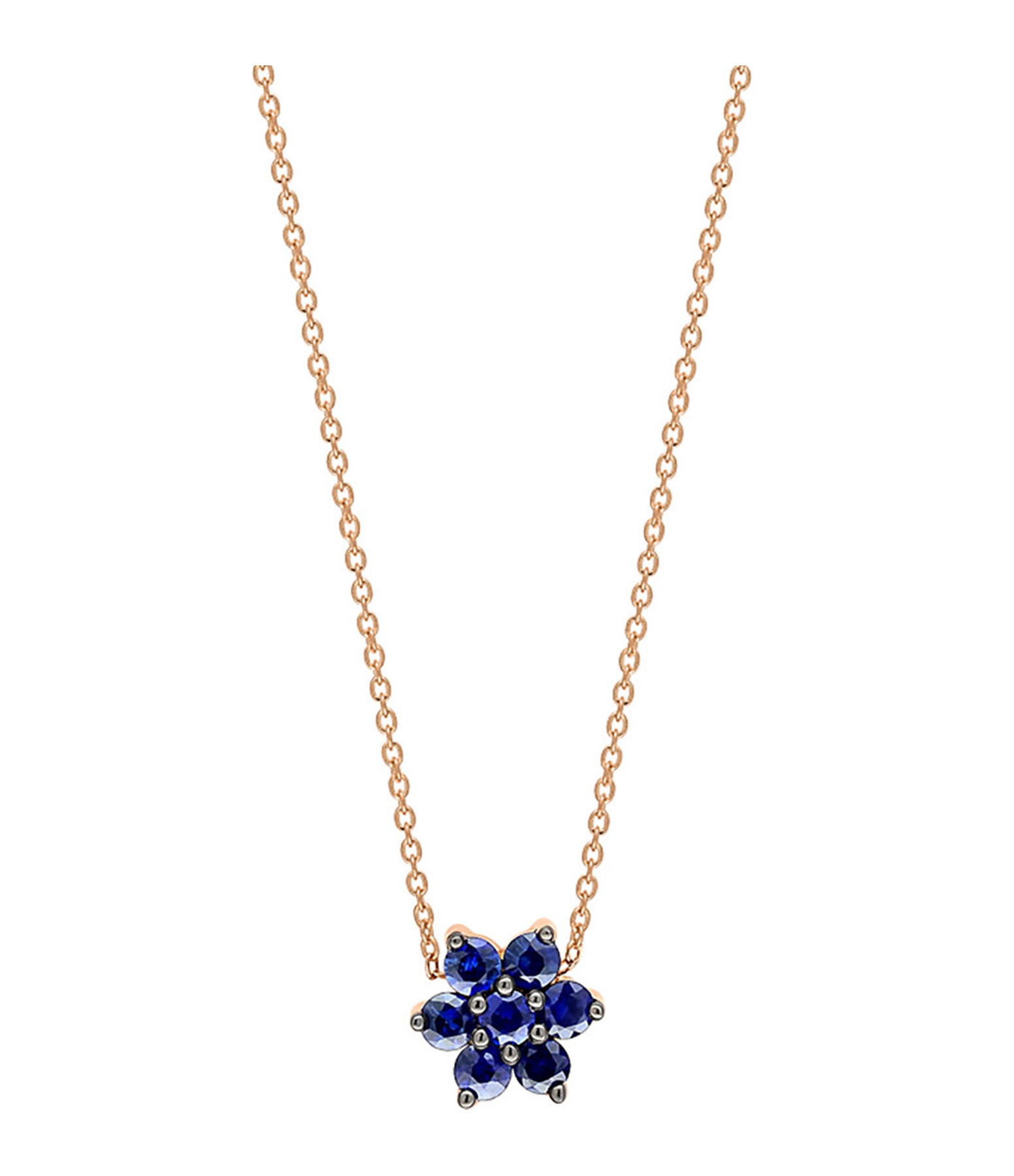 GINETTE NY - Collier Star Saphirs Or Rose
