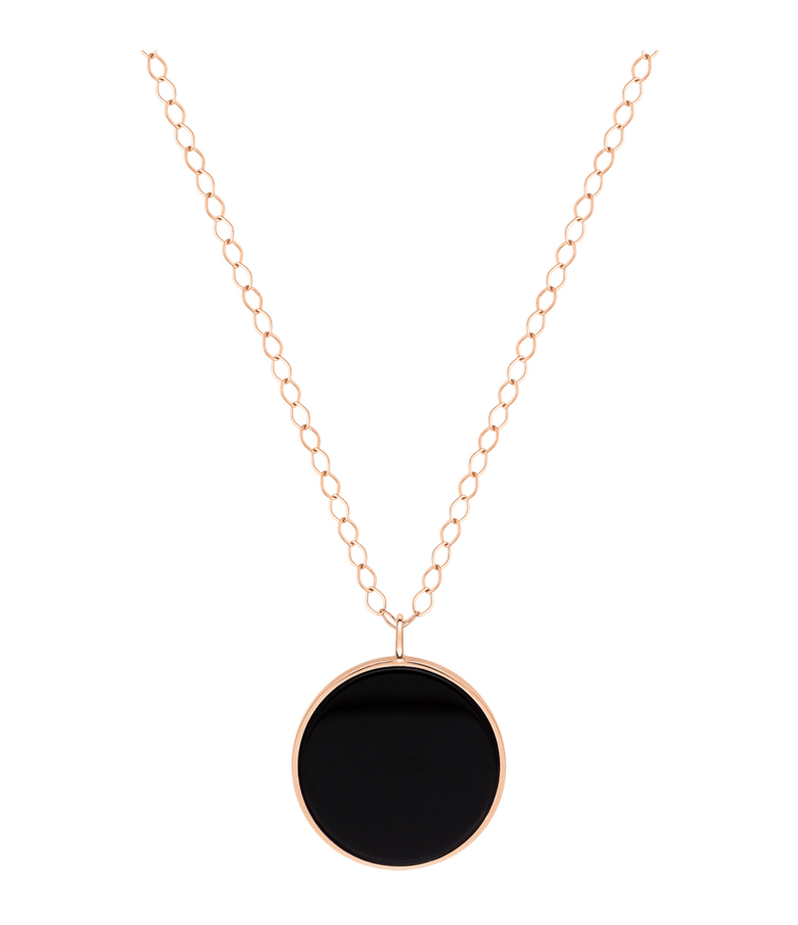GINETTE NY - Collier Ever Disc Jumbo Or Rose Onyx