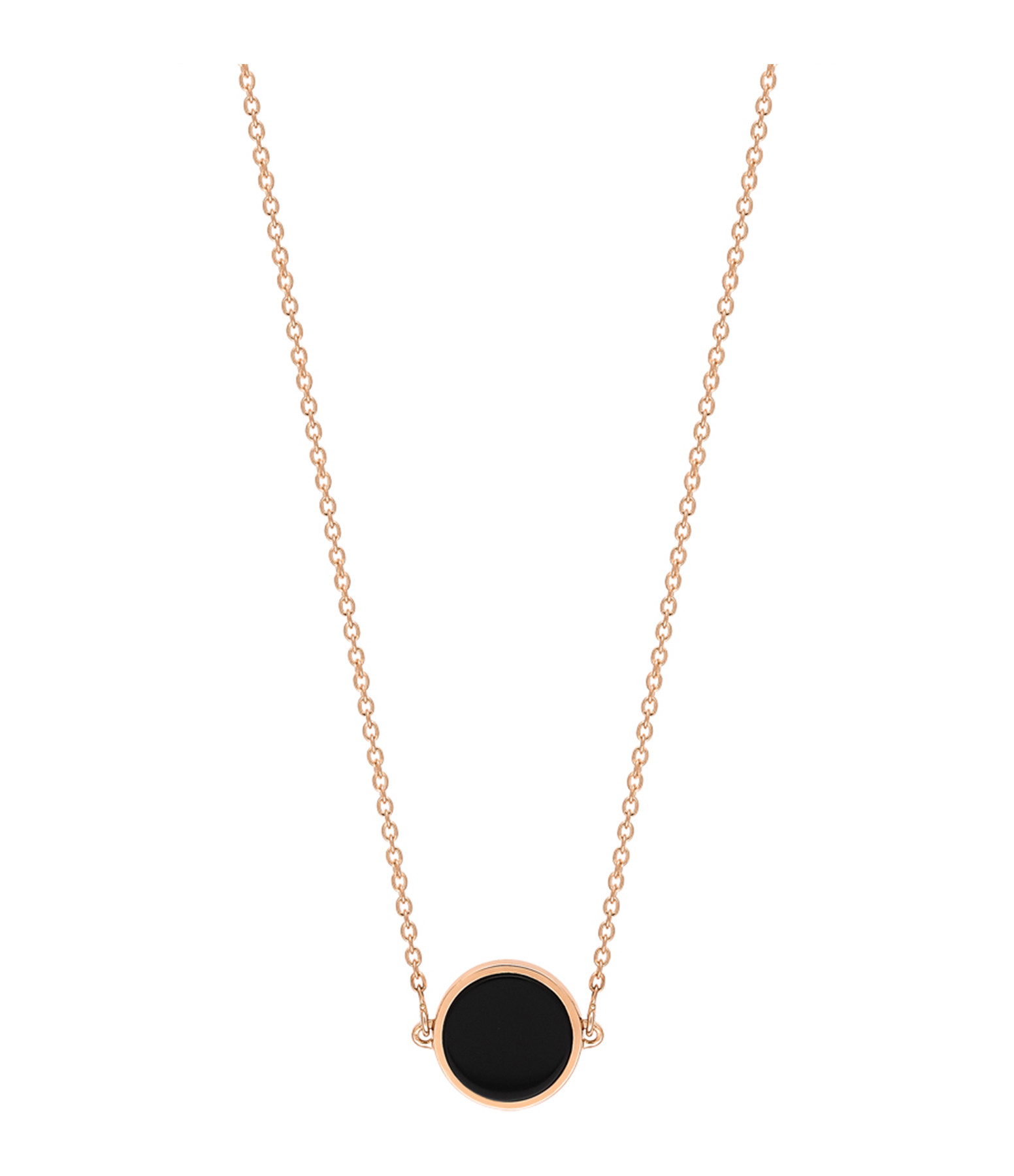 GINETTE NY - Collier Ever Mini Disc Or Rose Onyx