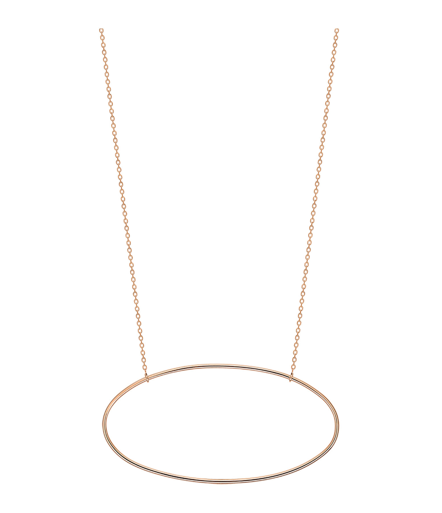 GINETTE_NY - Collier Ellipses Or Rose