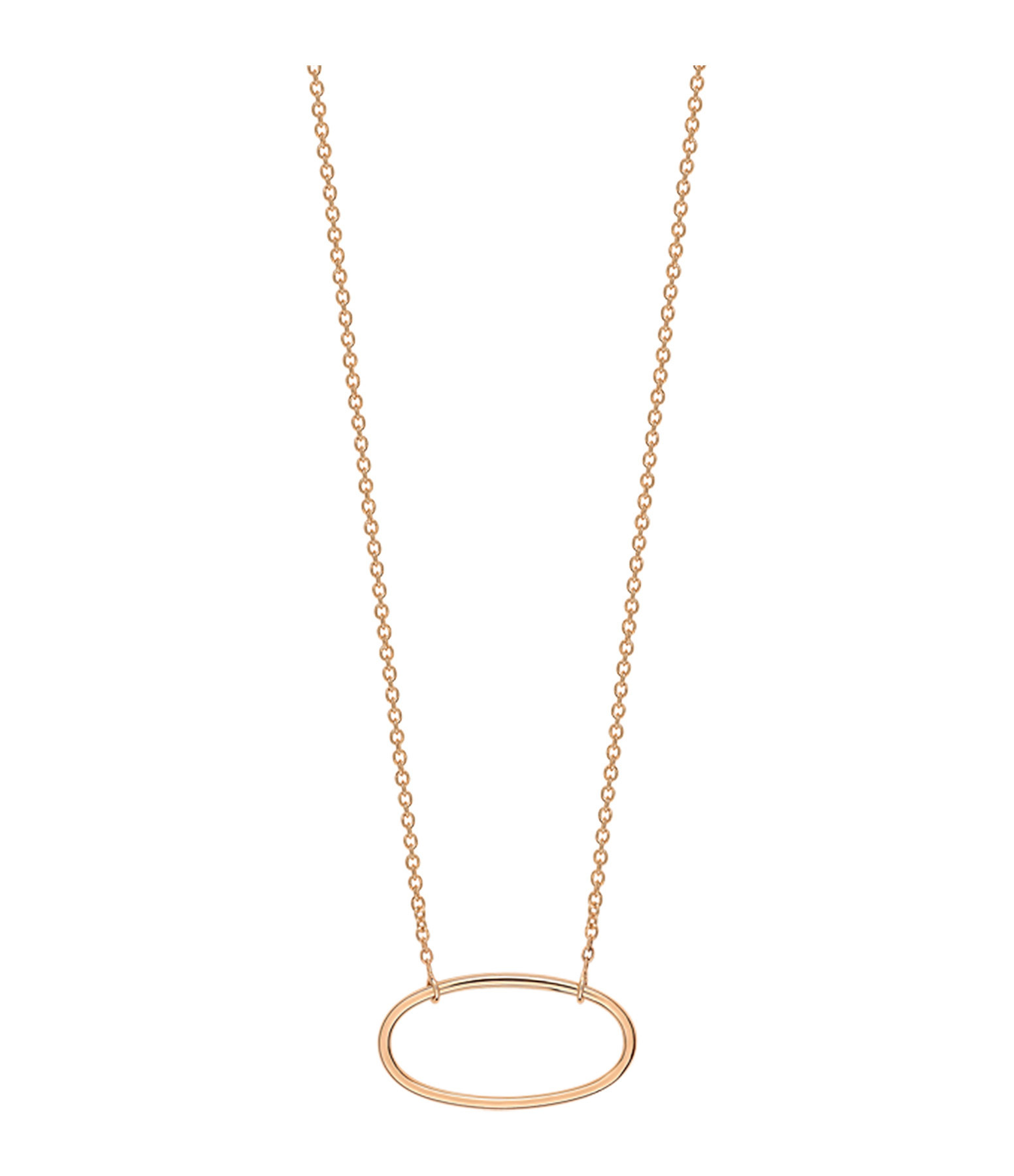 GINETTE_NY - Collier Ellipses Mini Or Rose