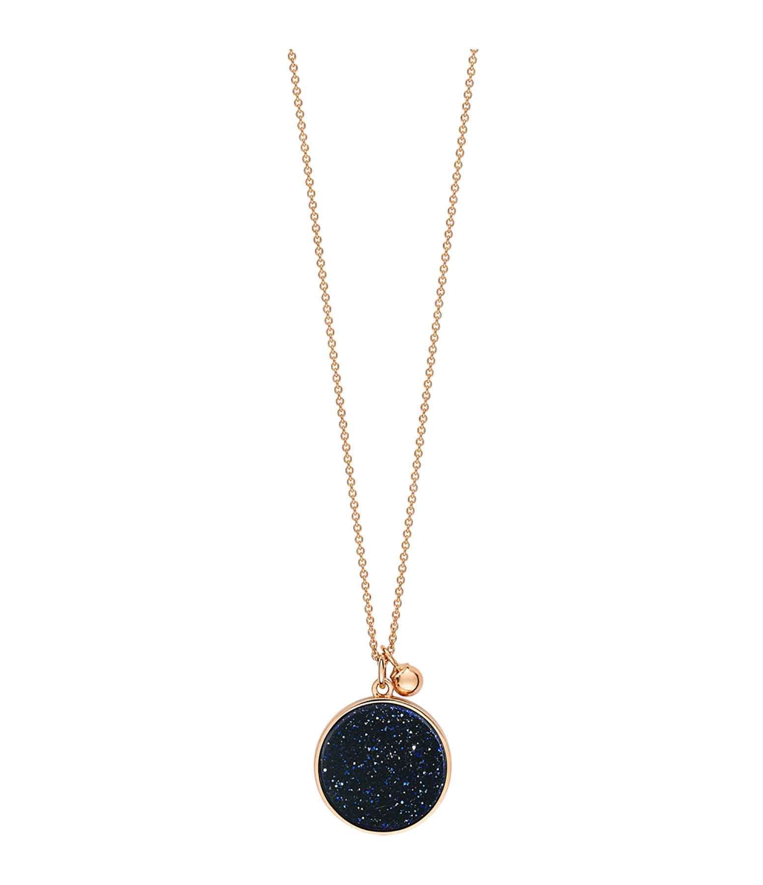 GINETTE NY - Collier Ever Blue Sand Stone Disc Or Rose