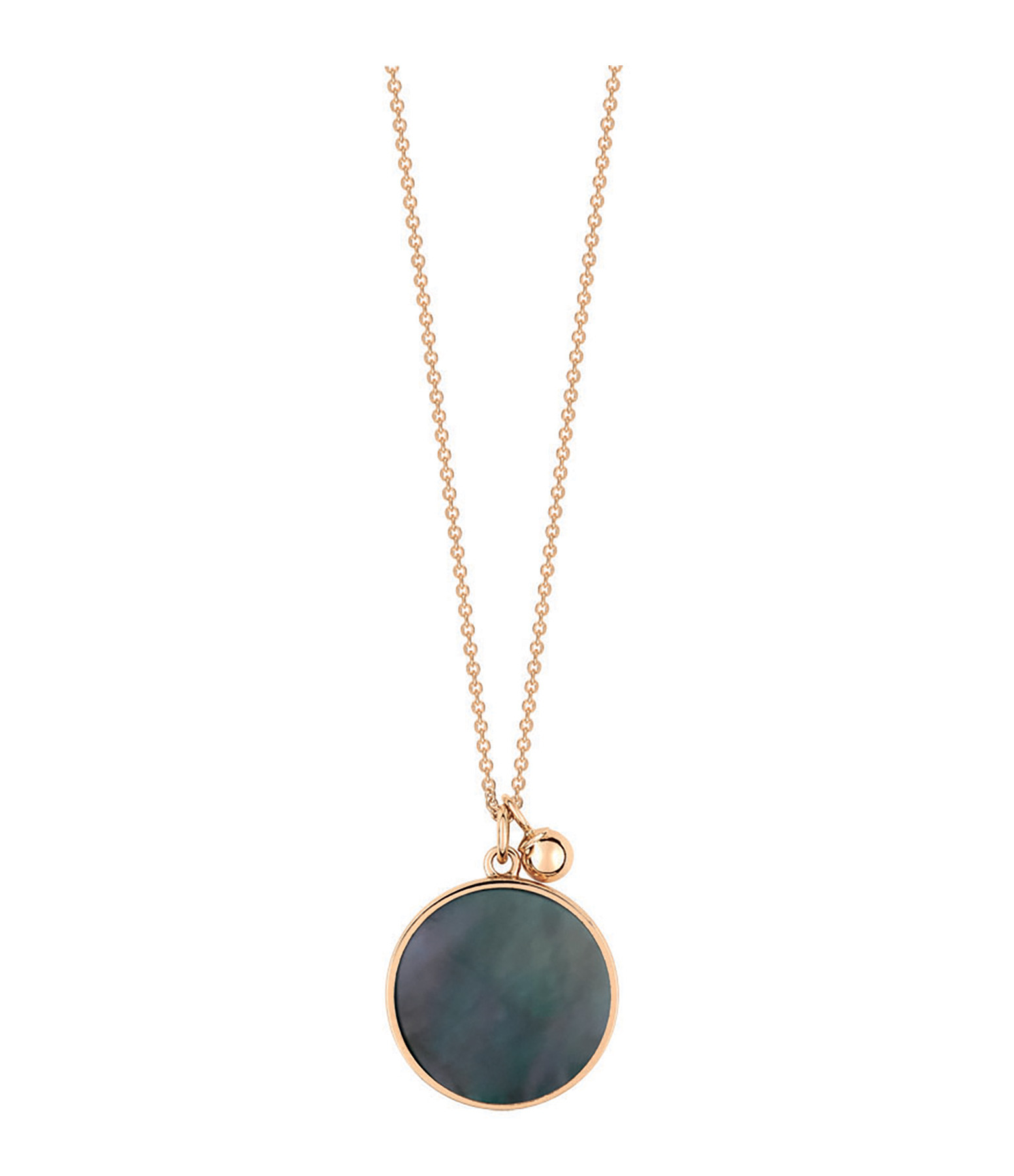 GINETTE NY - Collier Ever Black Mop Disc Or Rose