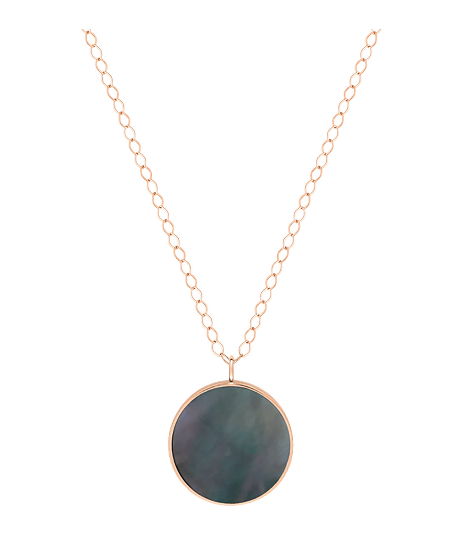 GINETTE NY - Collier Ever Jumbo Black Mop Disc Or Rose
