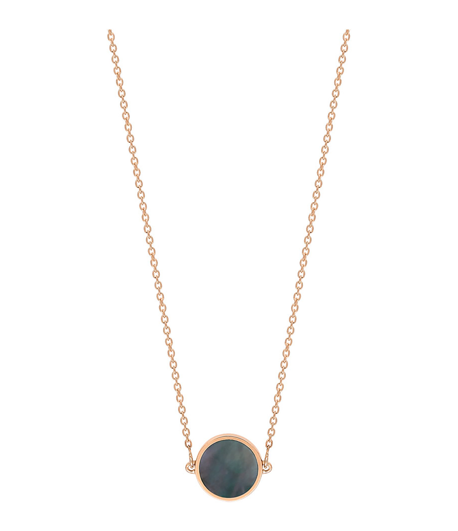 GINETTE NY - Collier Ever Mini Black Mop Disc Or Rose
