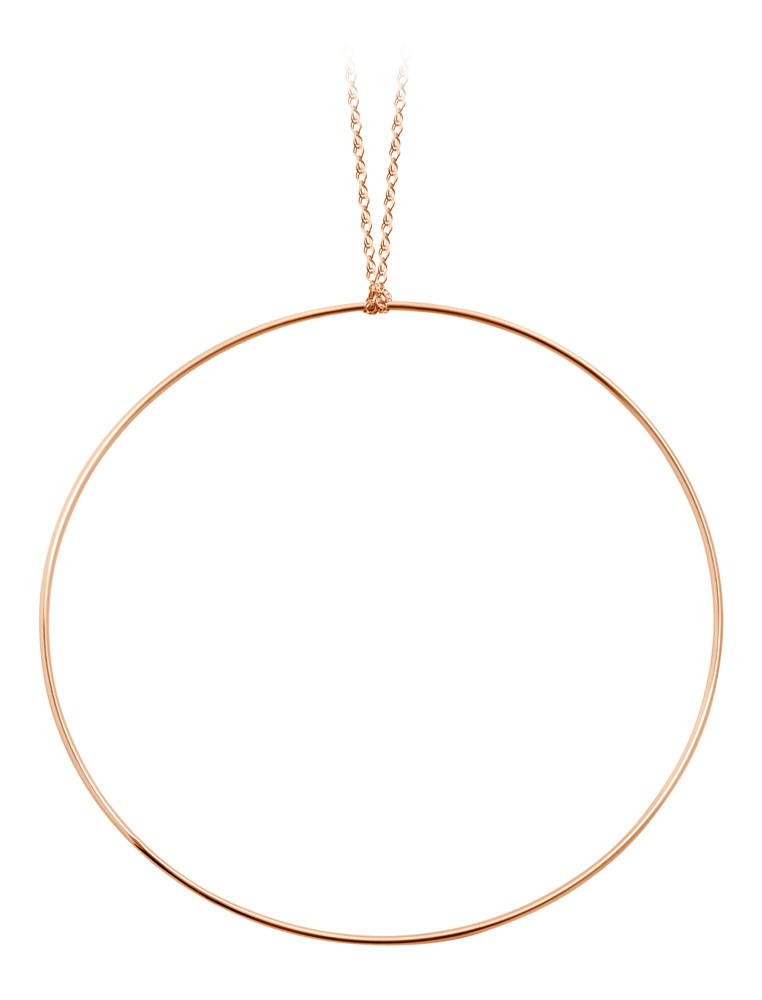 Collier Jumbo Cercle Or rose - GINETTE_NY