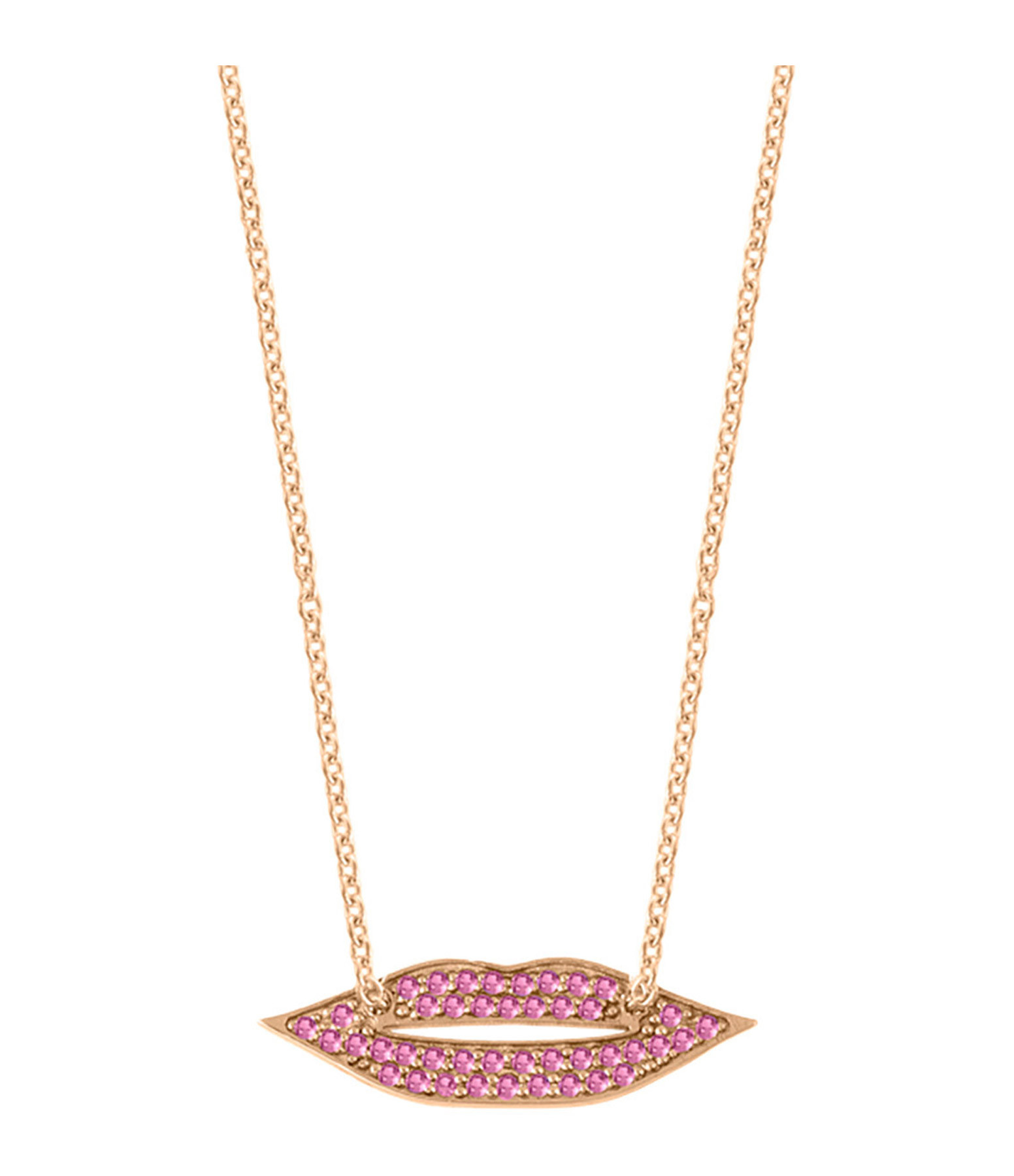 GINETTE NY - Collier French Kiss Saphirs Roses Or Rose
