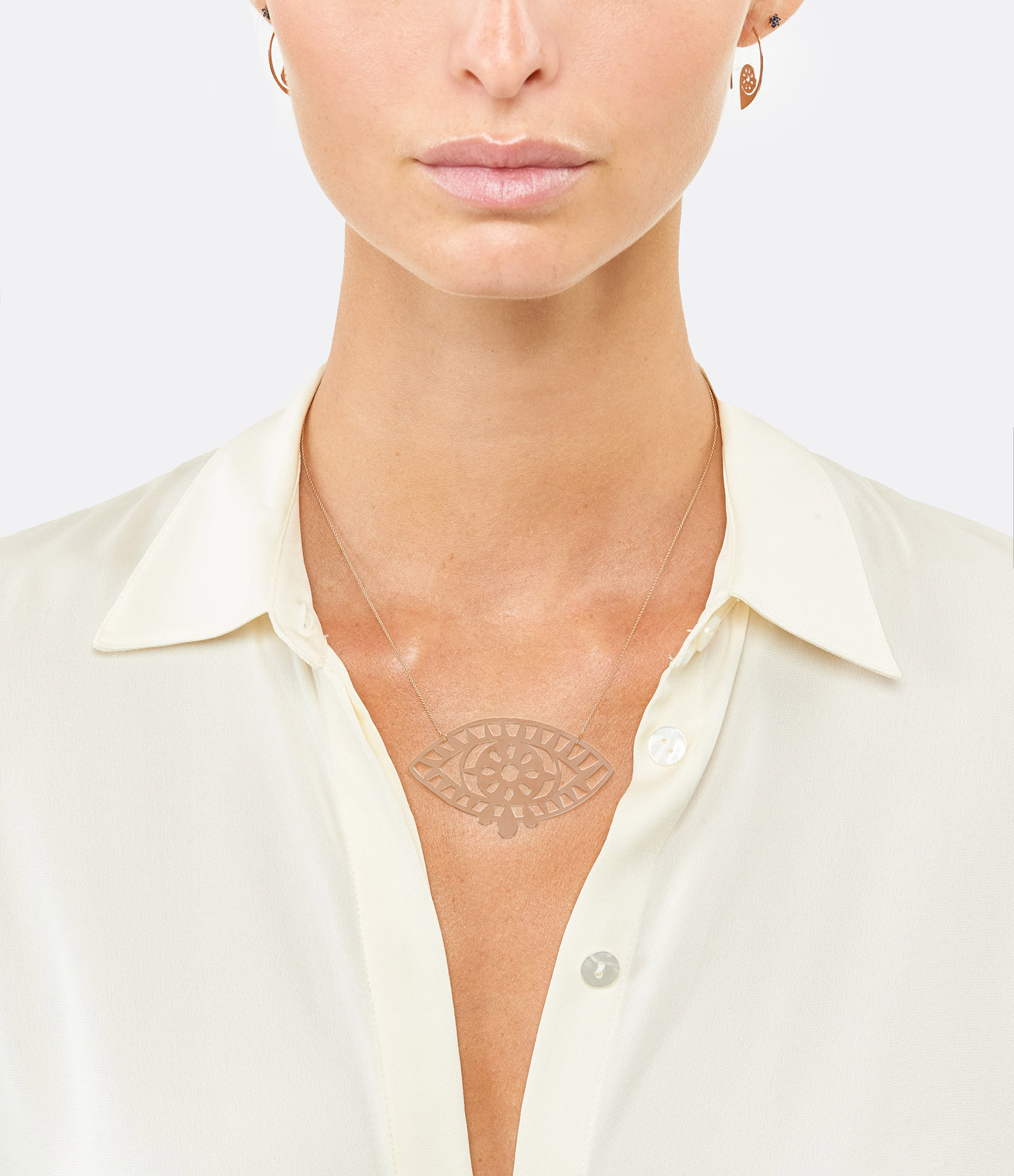 GINETTE NY - Collier Ajna Jumbo Or Rose