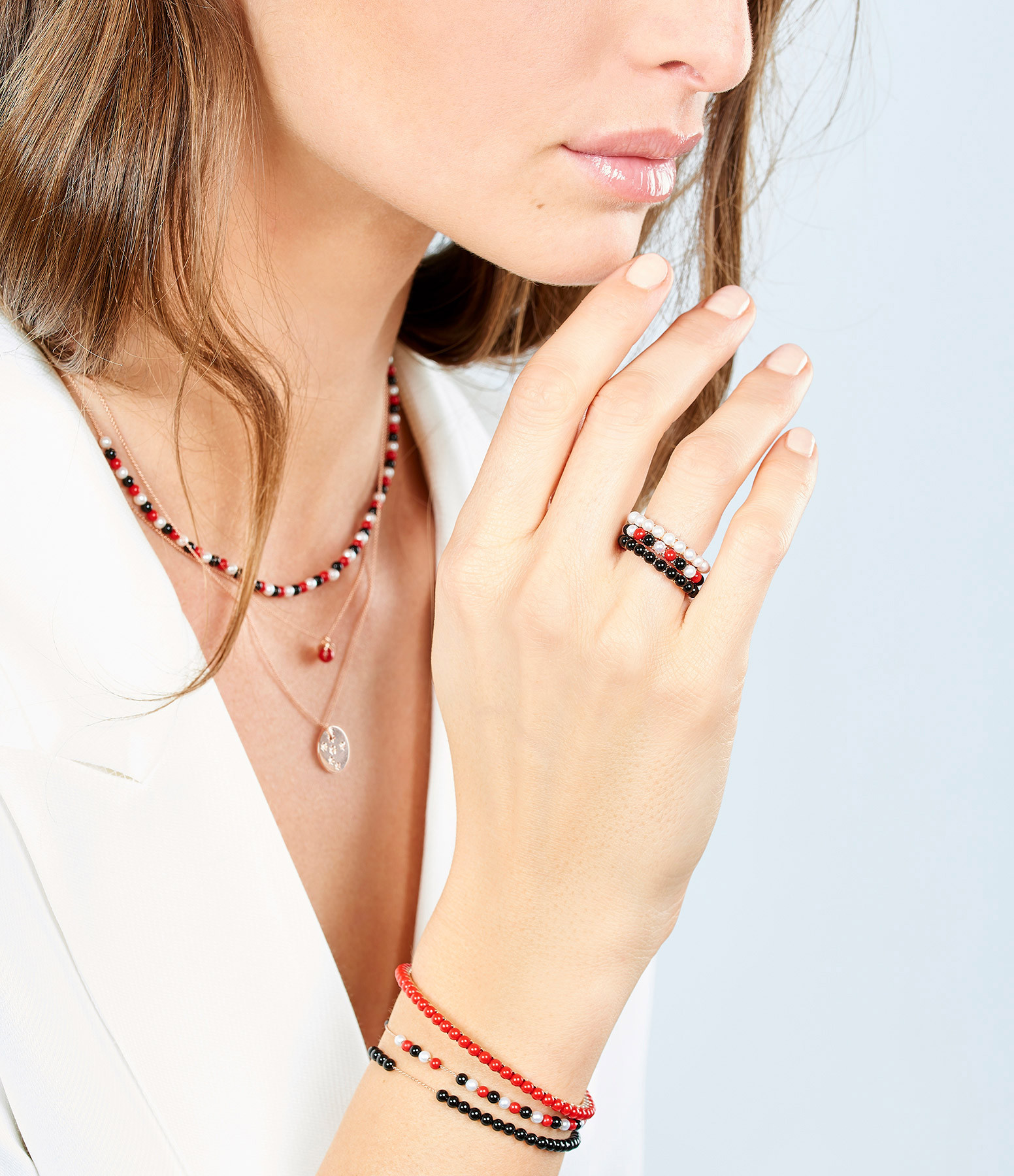 GINETTE_NY - Bague Maria Or Rose Onyx