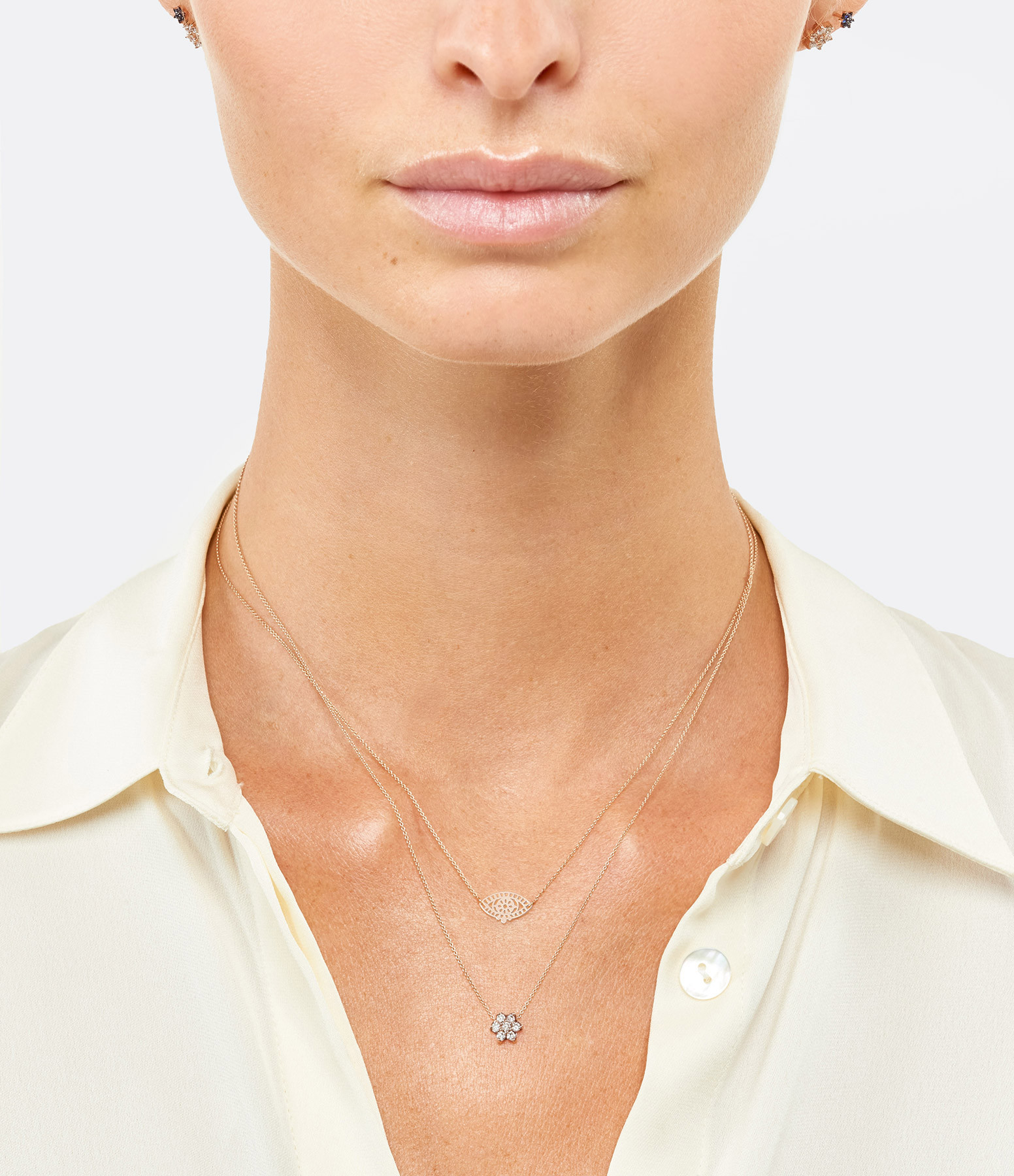 GINETTE NY - Collier Star Diamants Or Rose