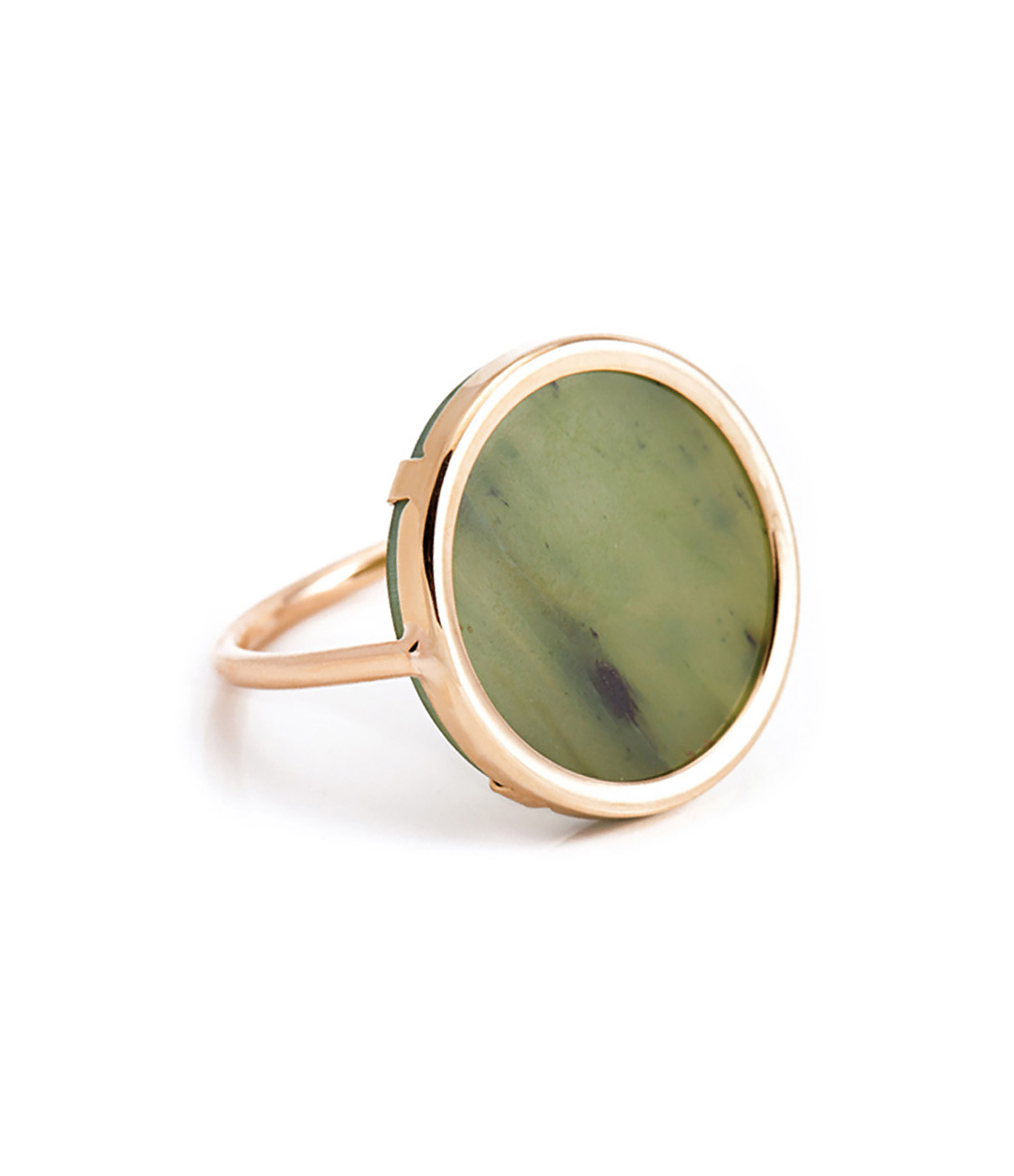 GINETTE_NY - Bague Disc Jade