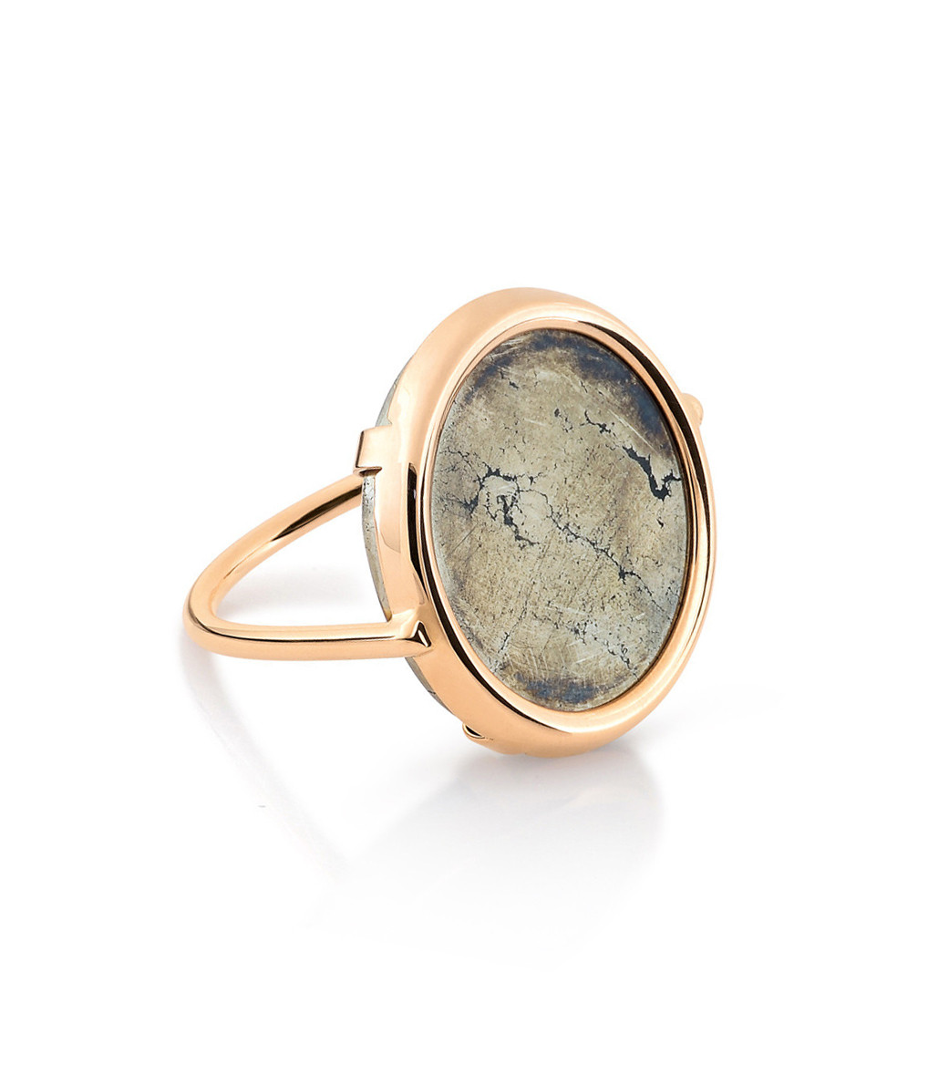 Bague Disc Fool's Gold - Gynette NY