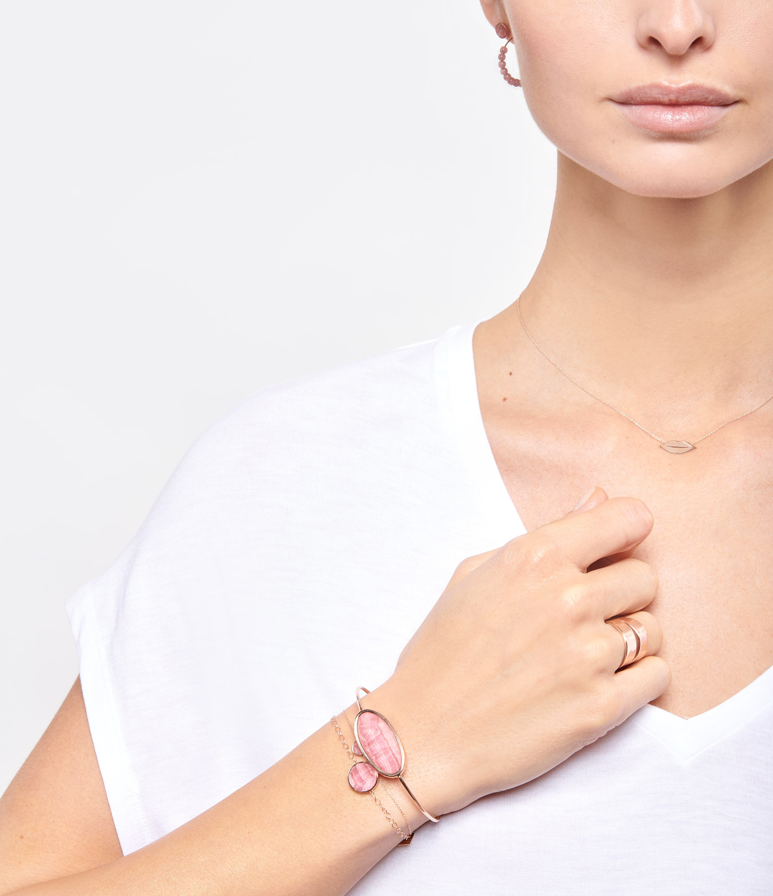 GINETTE NY - Bague French Kiss Large Or Rose