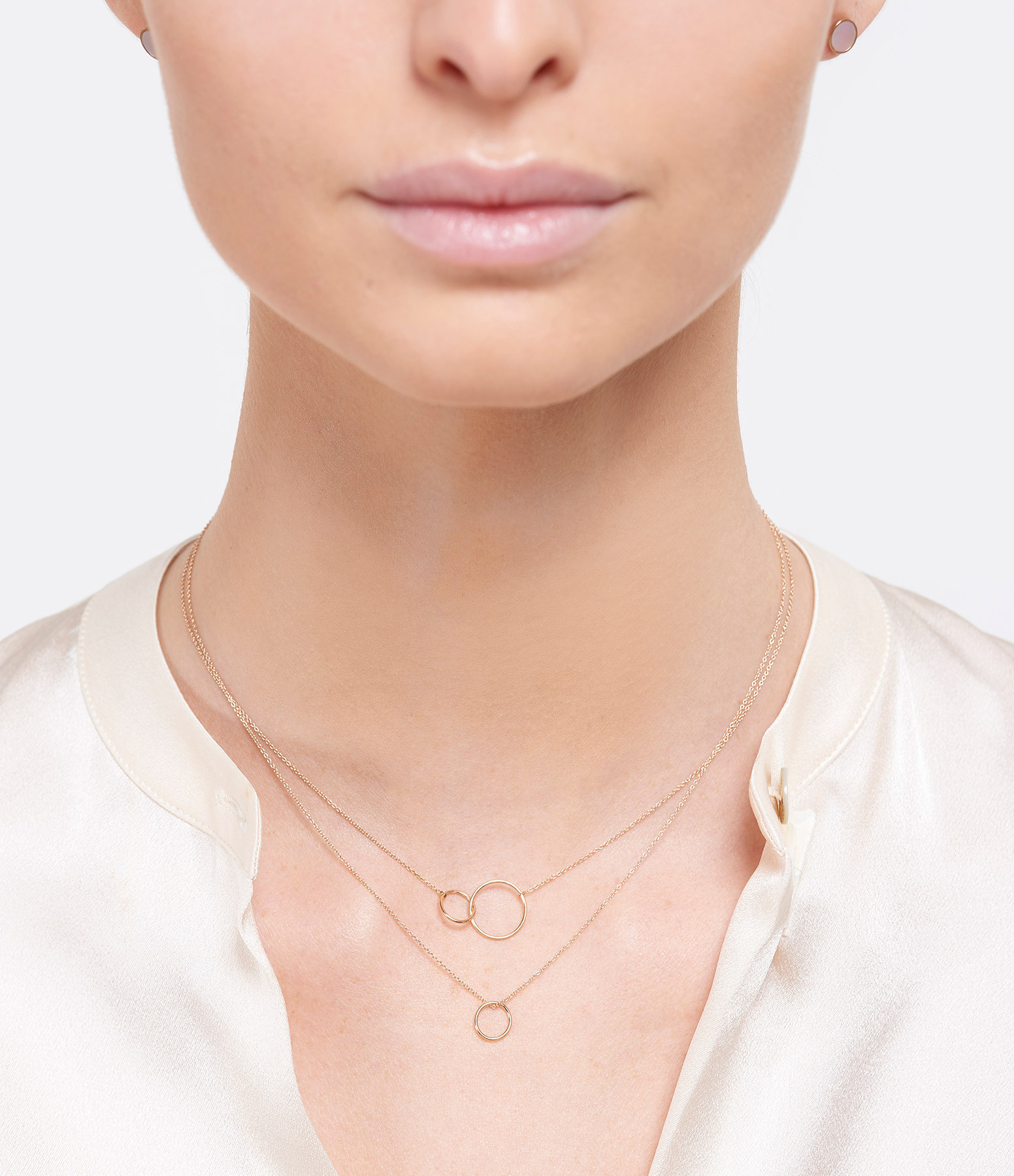 GINETTE NY - Collier Tiny Cercle Or Rose