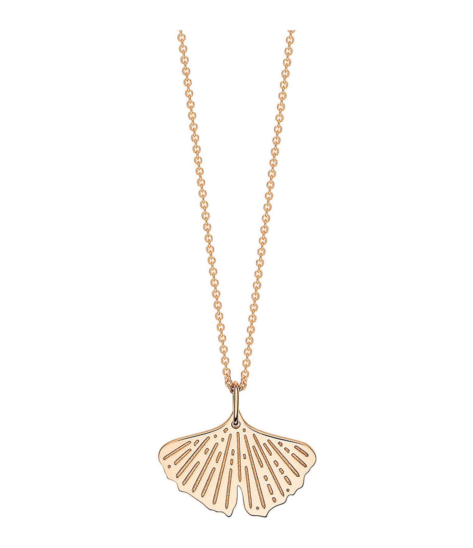 GINETTE_NY - Collier Gingko Mini Or Rose