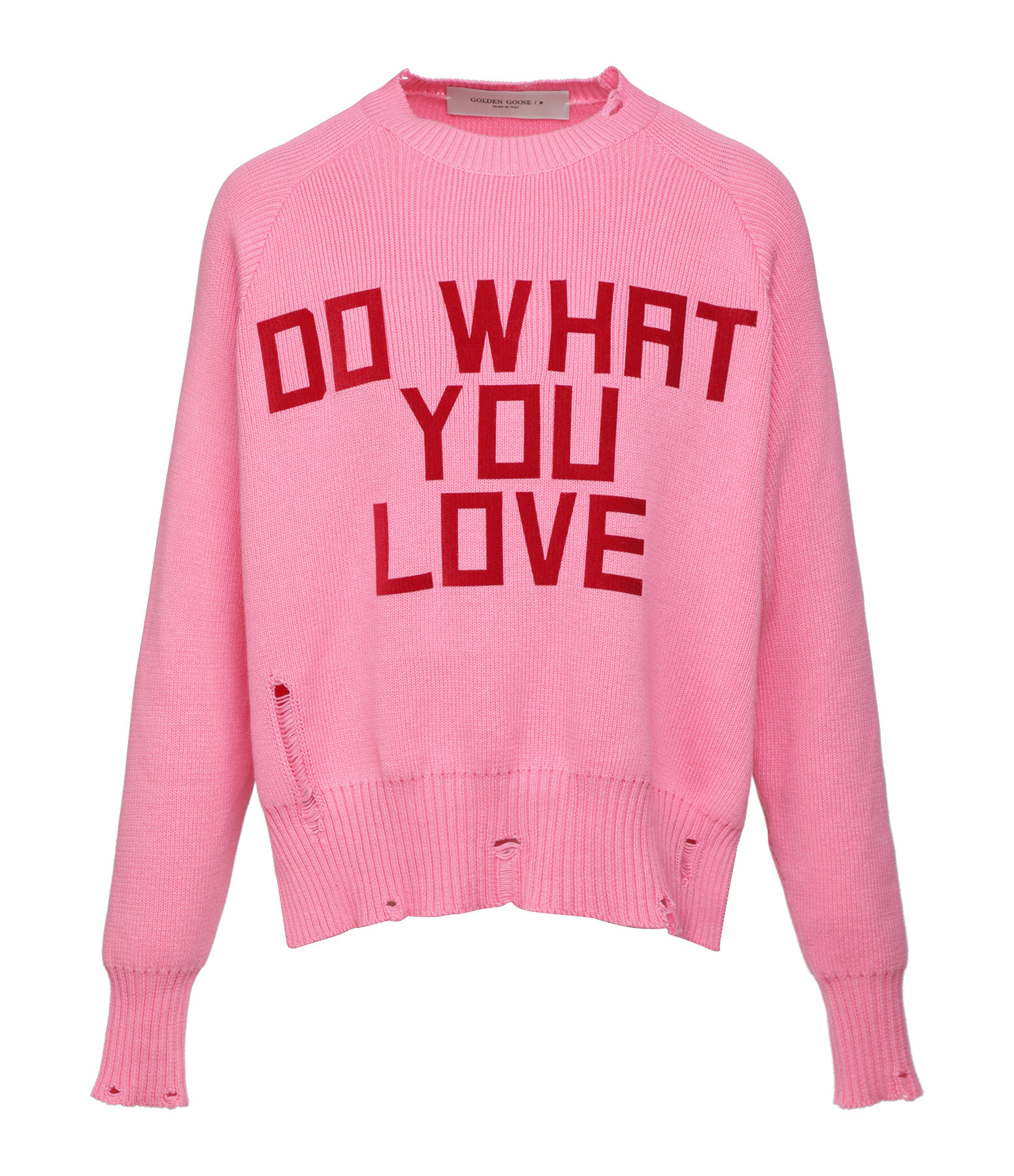 GOLDEN GOOSE - Pull Delilah Do What You Love Coton Rose