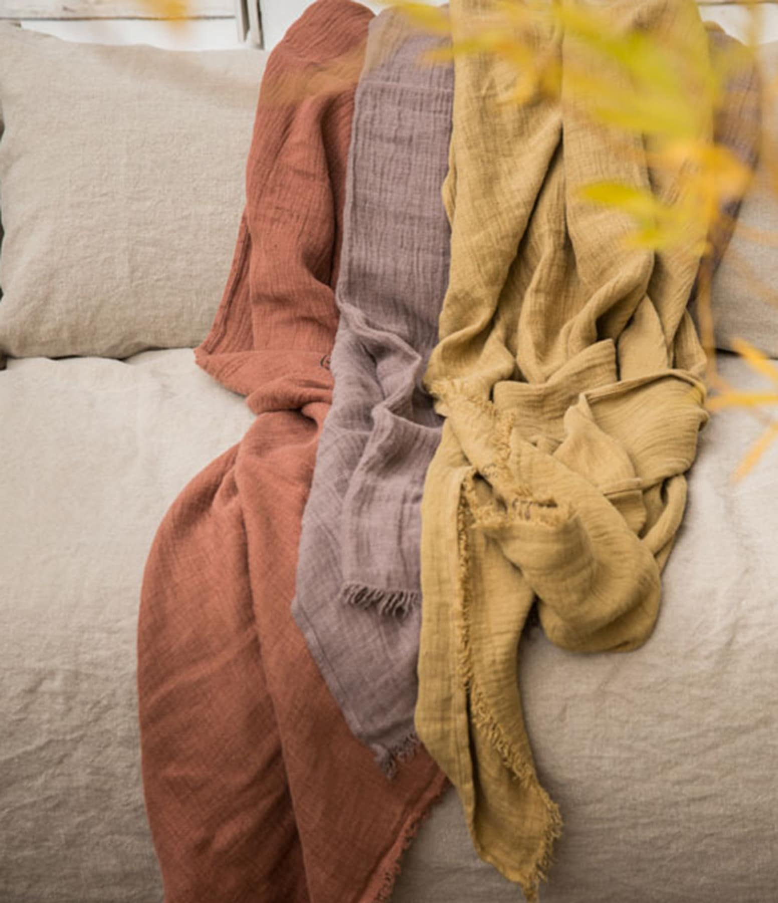 BED AND PHILOSOPHY - Plaid Warmy Up Orage