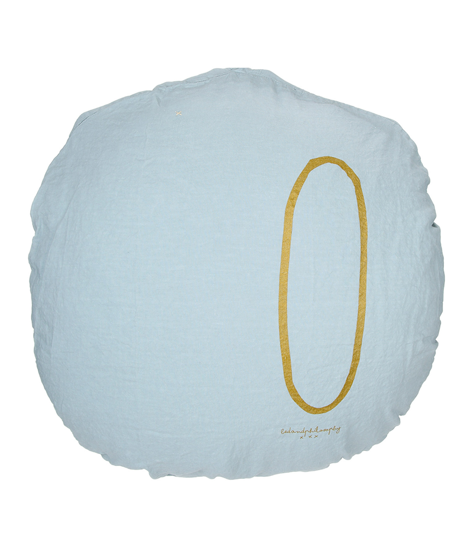 BED AND PHILOSOPHY - Coussin Shining Lin Aqua Print Doré